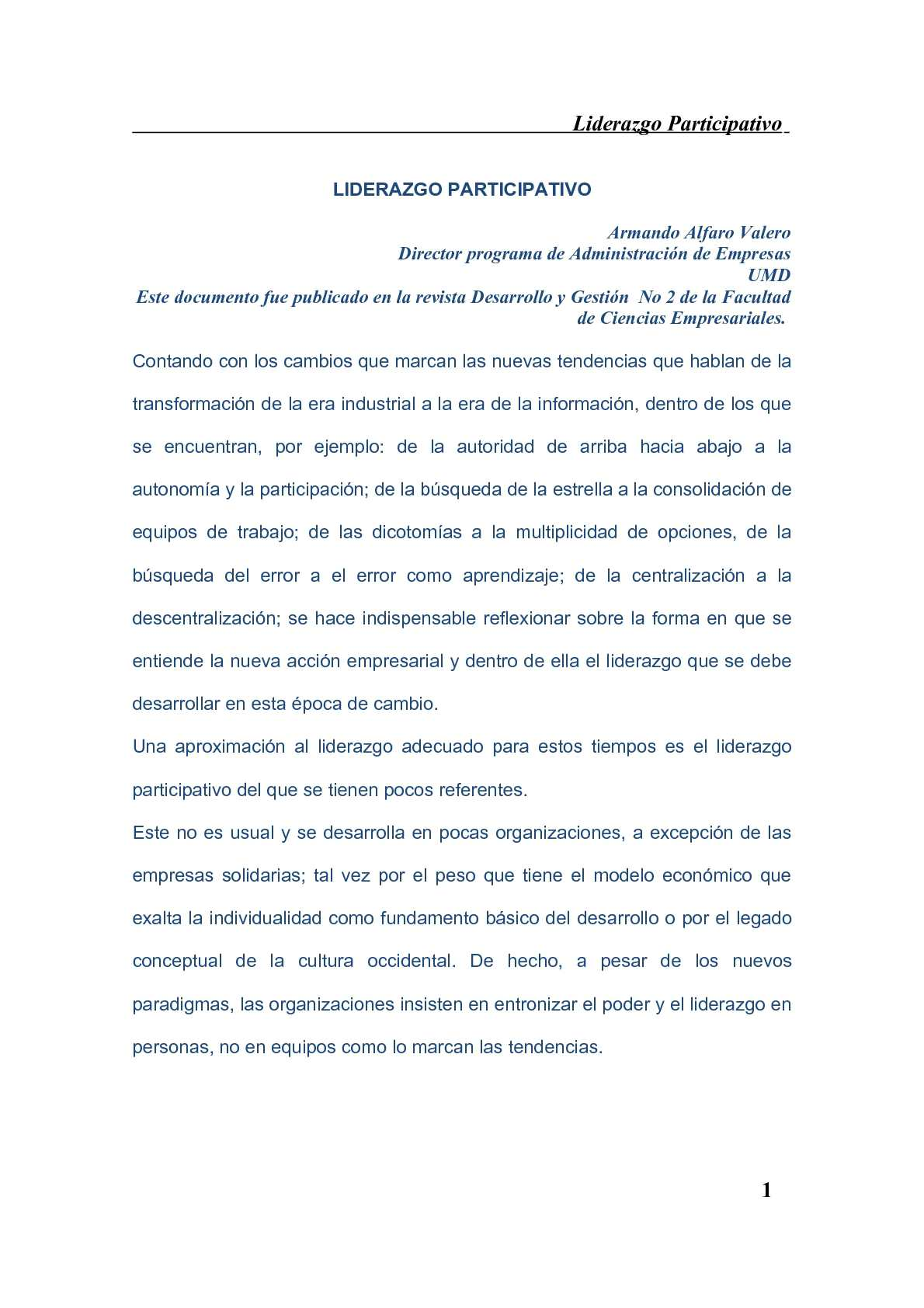 Calaméo - LIDERAZGO PARTICIPATIVO