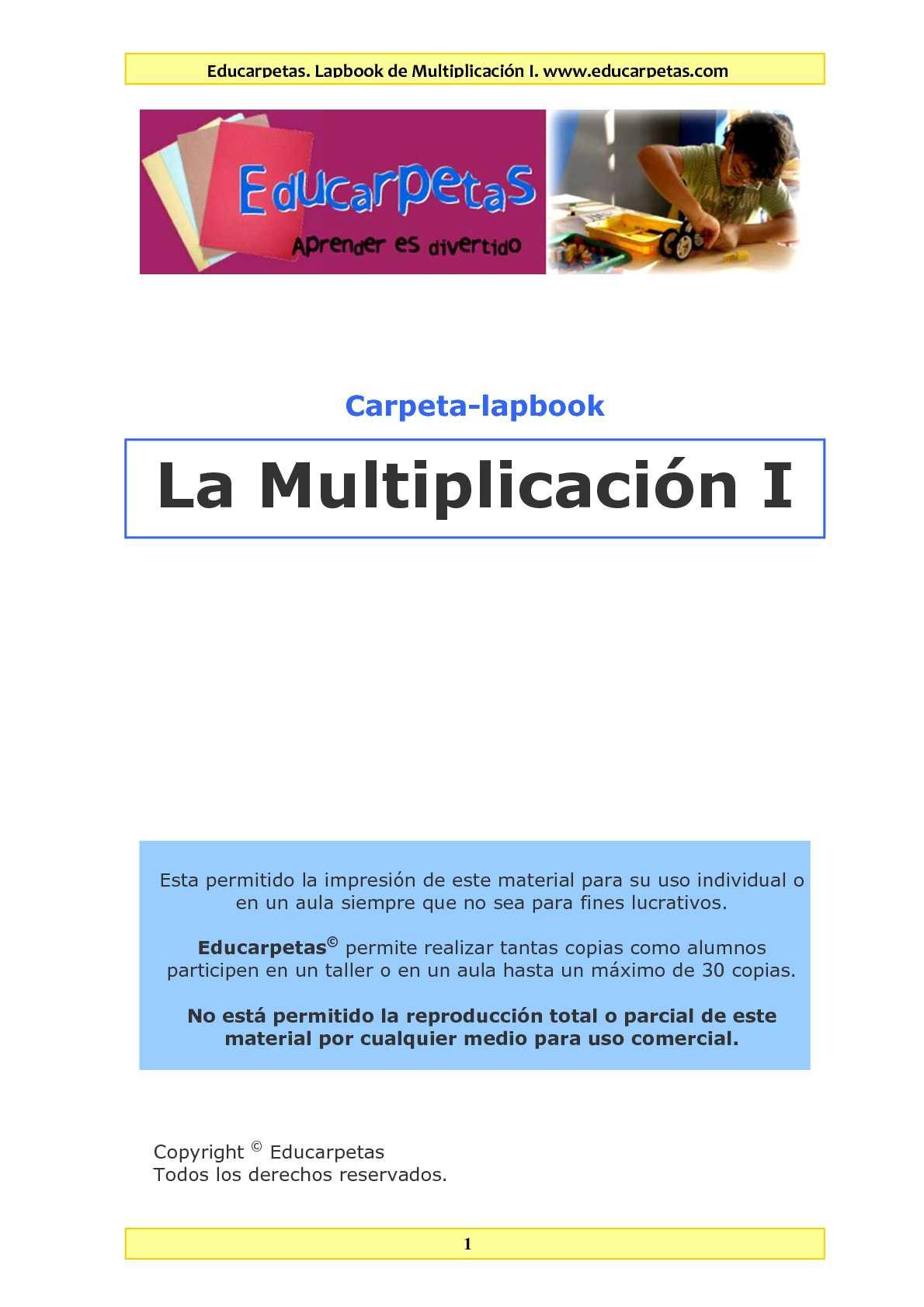 Calaméo - Lapbook Multiplicación I