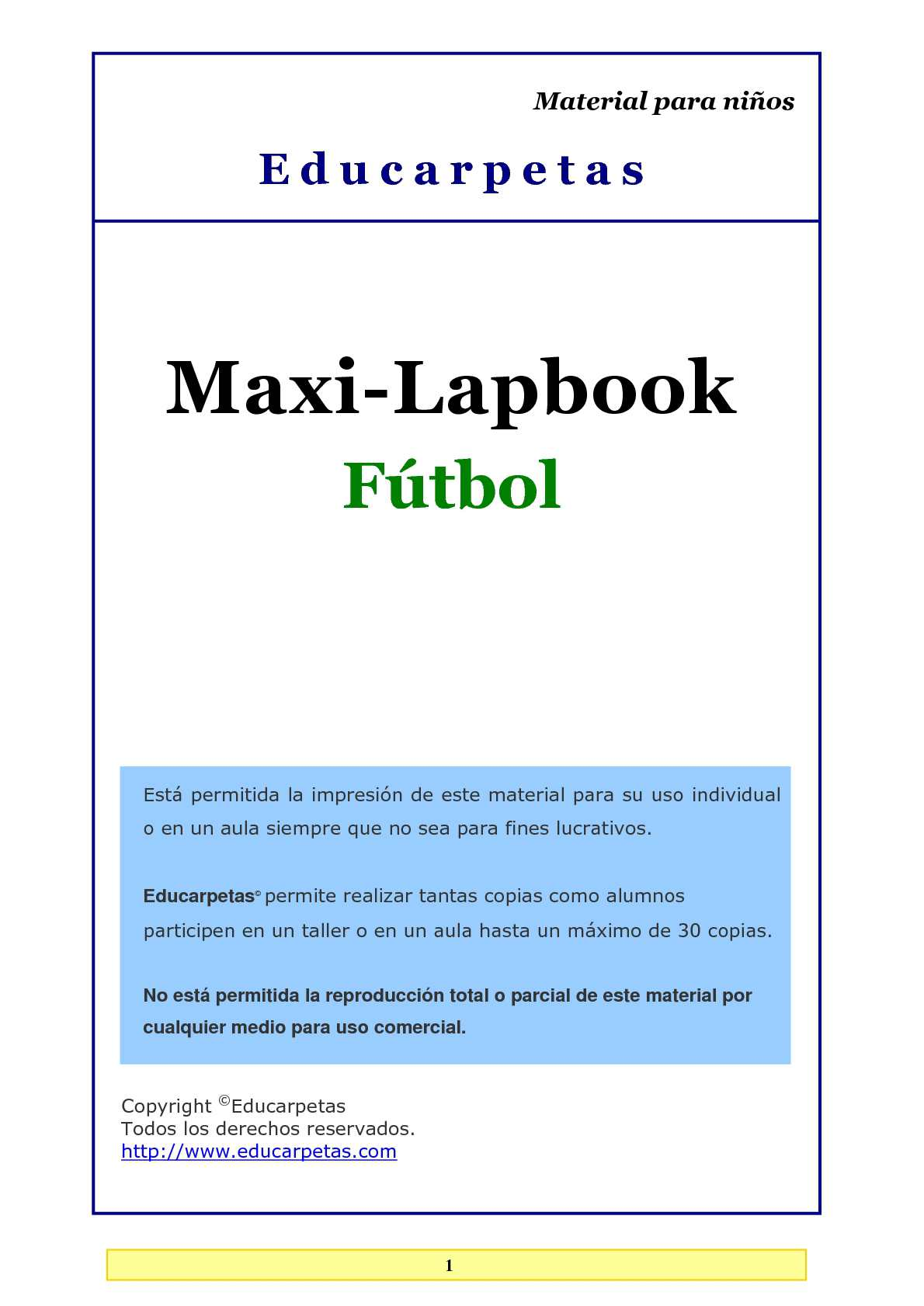 Calaméo - Maxi-lapbook Fútbol