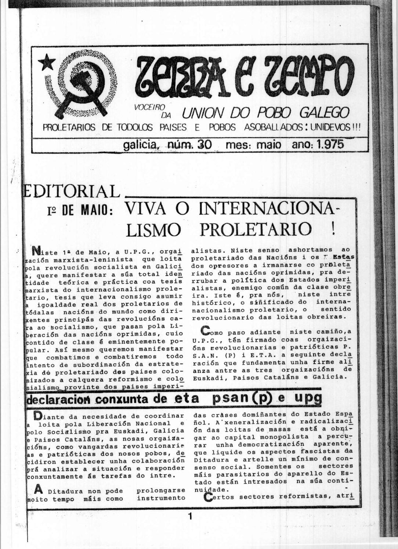 Terra e Tempo nº 30 (Maio, 1975)