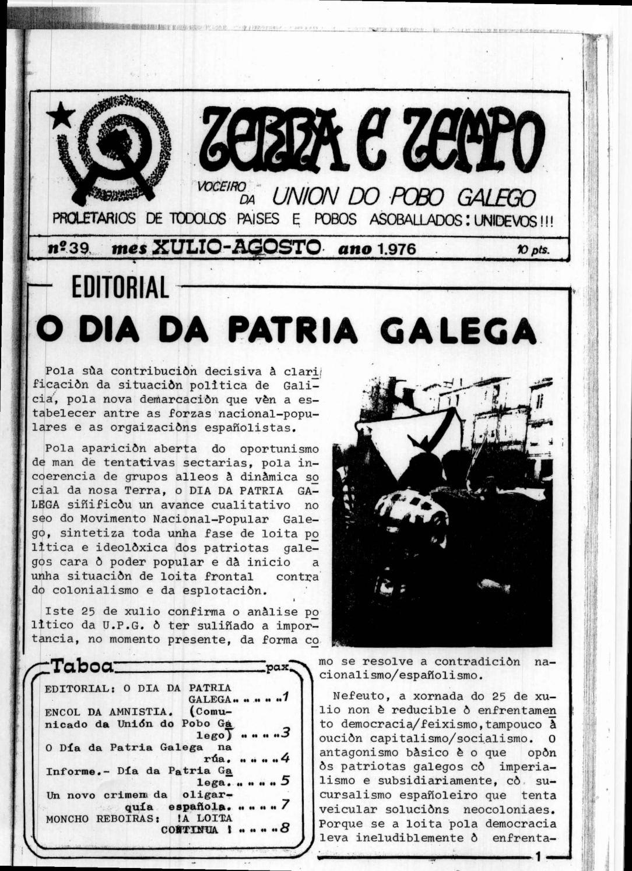 Terra e Tempo nº 39 (Xullo-Agosto, 1976)