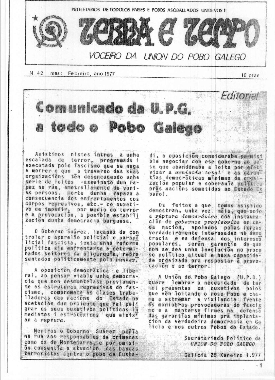 Terra e Tempo nº 42 (Febreiro, 1977)