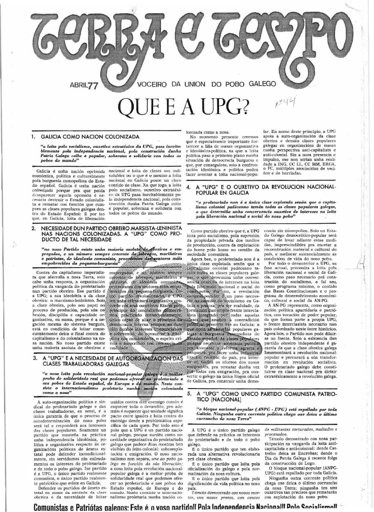Terra e Tempo nº 44 (Abril, 1977)