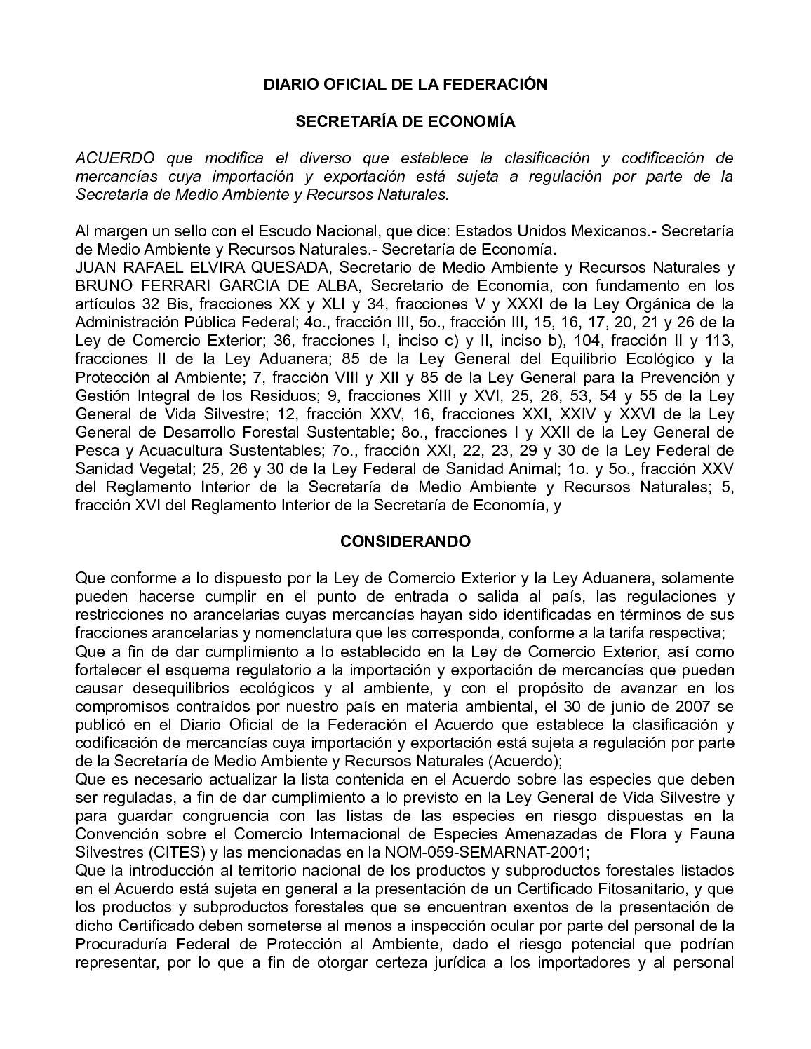 Calam O Dof Se 27 De Agosto De 2010 Clasifiaci N Y  # Certificado Fitosanitario Muebles