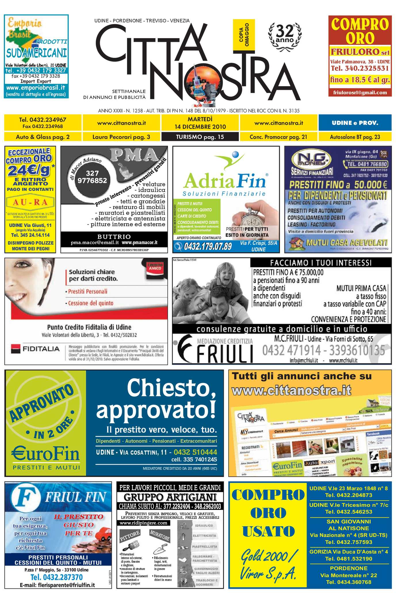 Calaméo Citt Nostra Udine Del 14 12 2010 N 1258