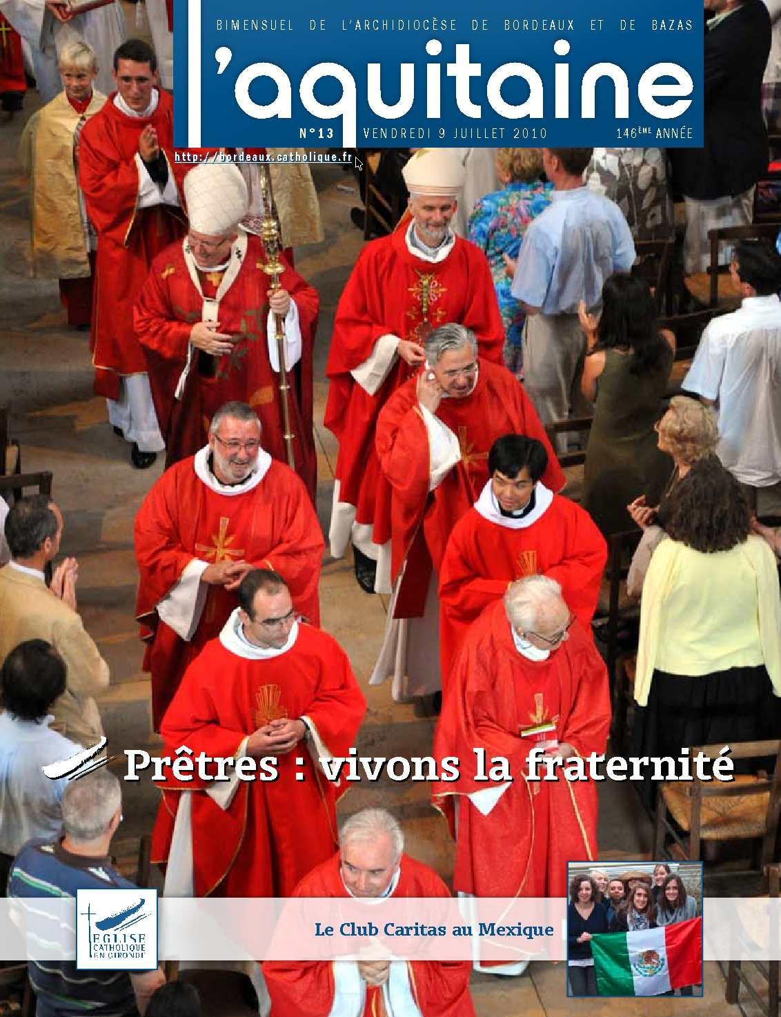 Calam o 2010 13 l 39 aquitaine juillet 2010 le journal des catholique - Le journal de bordeaux ...