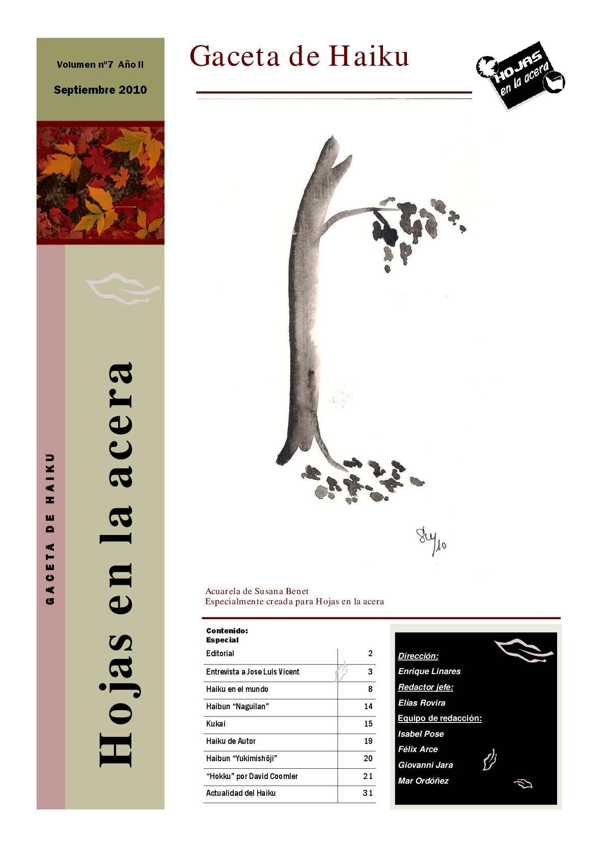 Calaméo - Hojas en la acera nº 7 Gaceta de Haiku