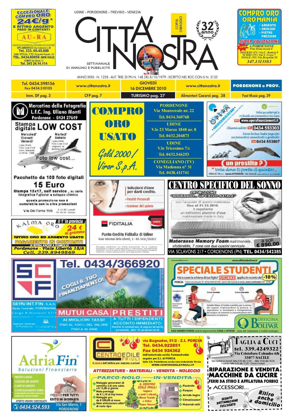 Calaméo Citt Nostra Pordenone Del 16 12 2010 N 1258