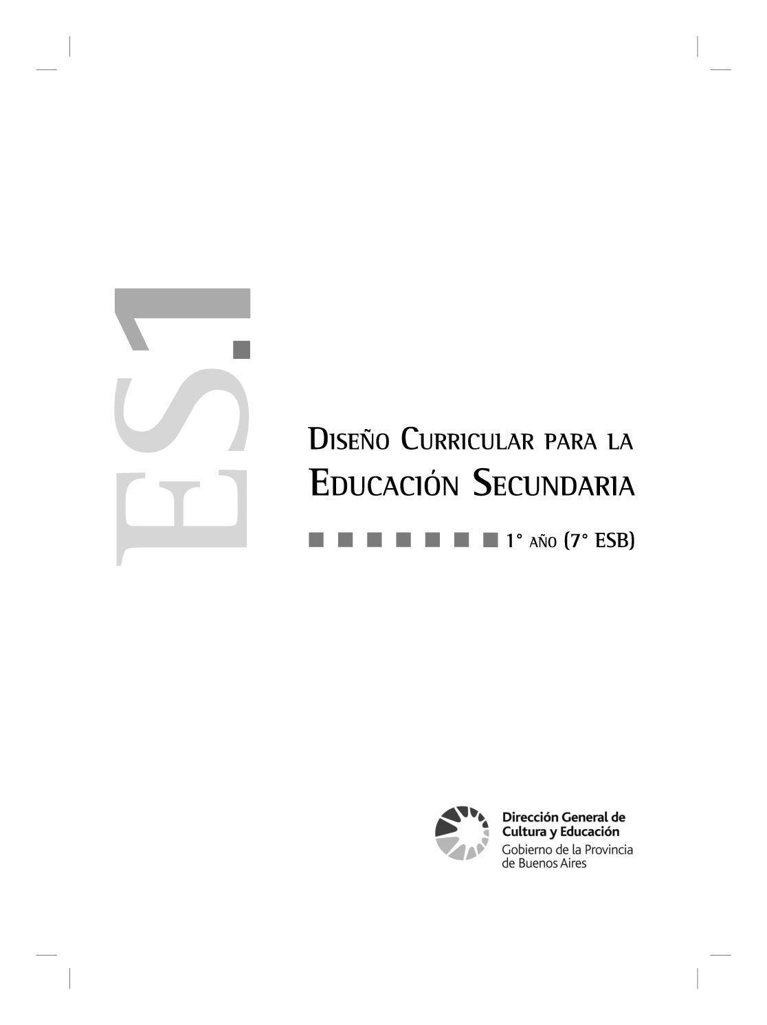 Calaméo - Diseño Curricular Secundaria 1º año
