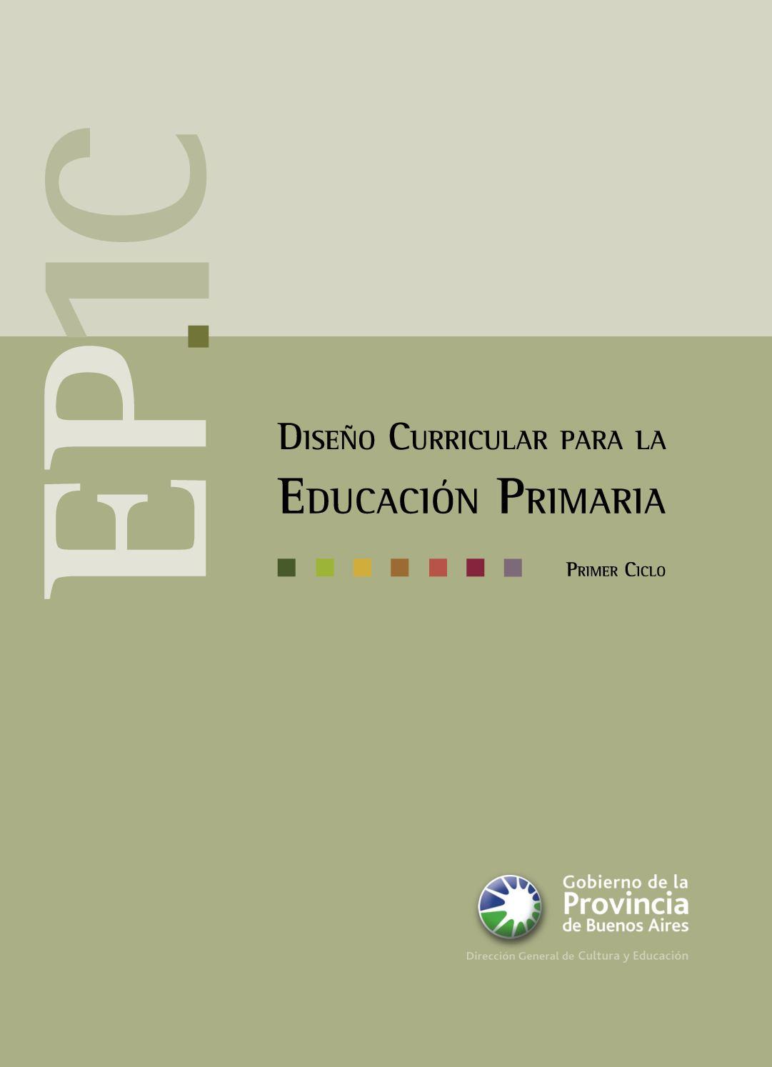 Calaméo - Diseño Curricular de Nivel Primario (1º Ciclo)