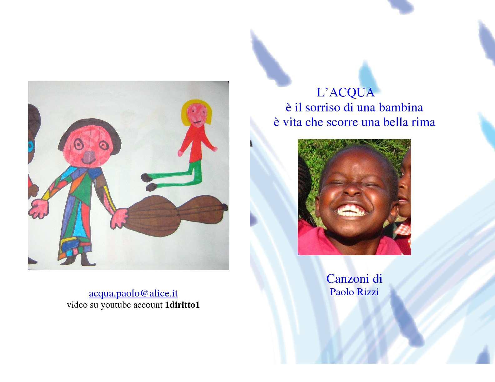 Calaméo Libretto Con Le Mie Canzoni Dacqua Per I Bambini E Le Bambine