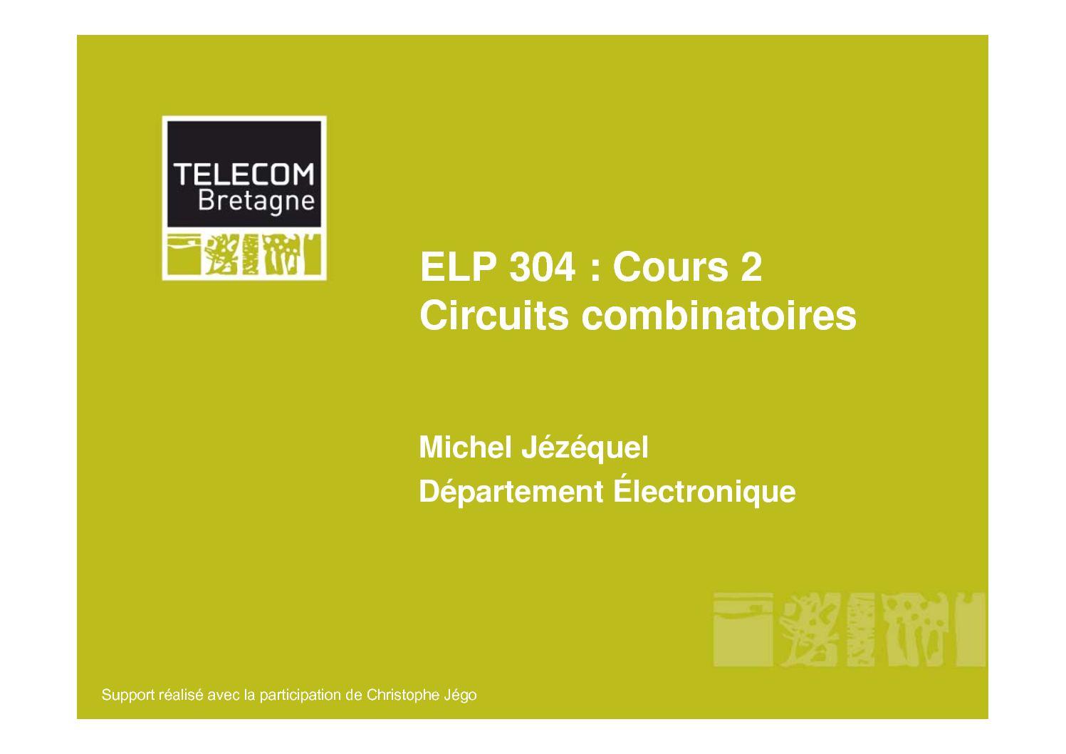 Circuit combinatoire cours