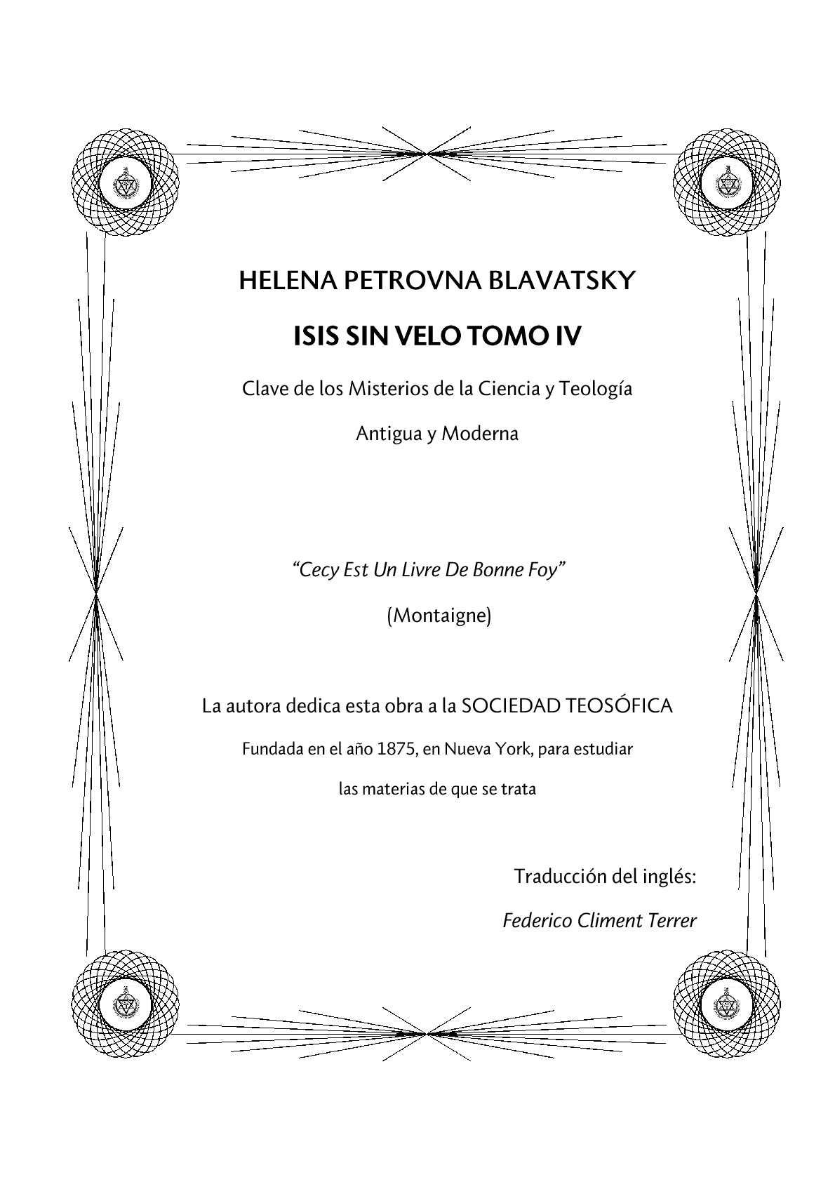 Calaméo - ISIS SIN VELO TOMO IV