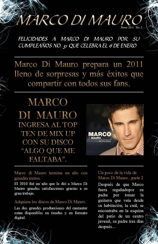 Calaméo - Boletín Marco Di Mauro enero de 2011