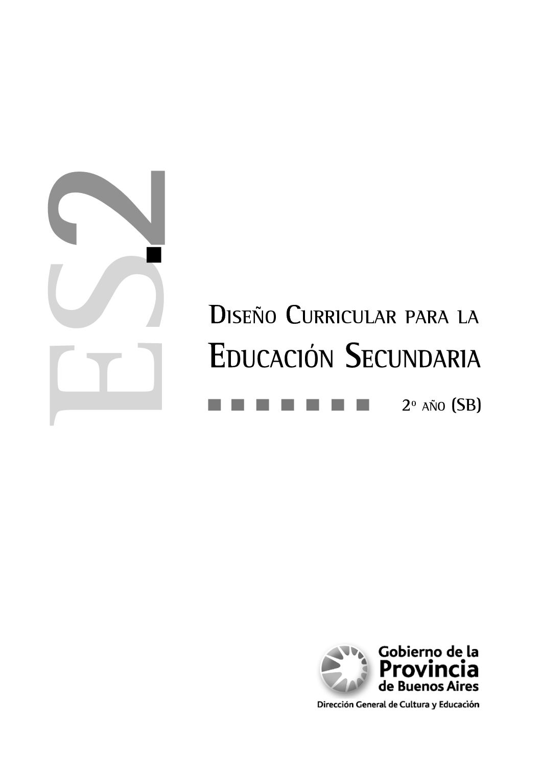 Calaméo - Diseño Curricular 2 SB