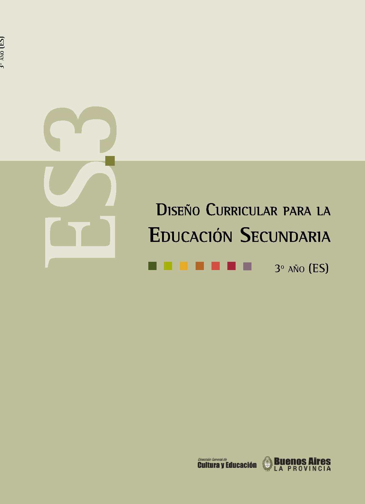 Calam o dise o curricular 3 sb for Diseno curricular primaria
