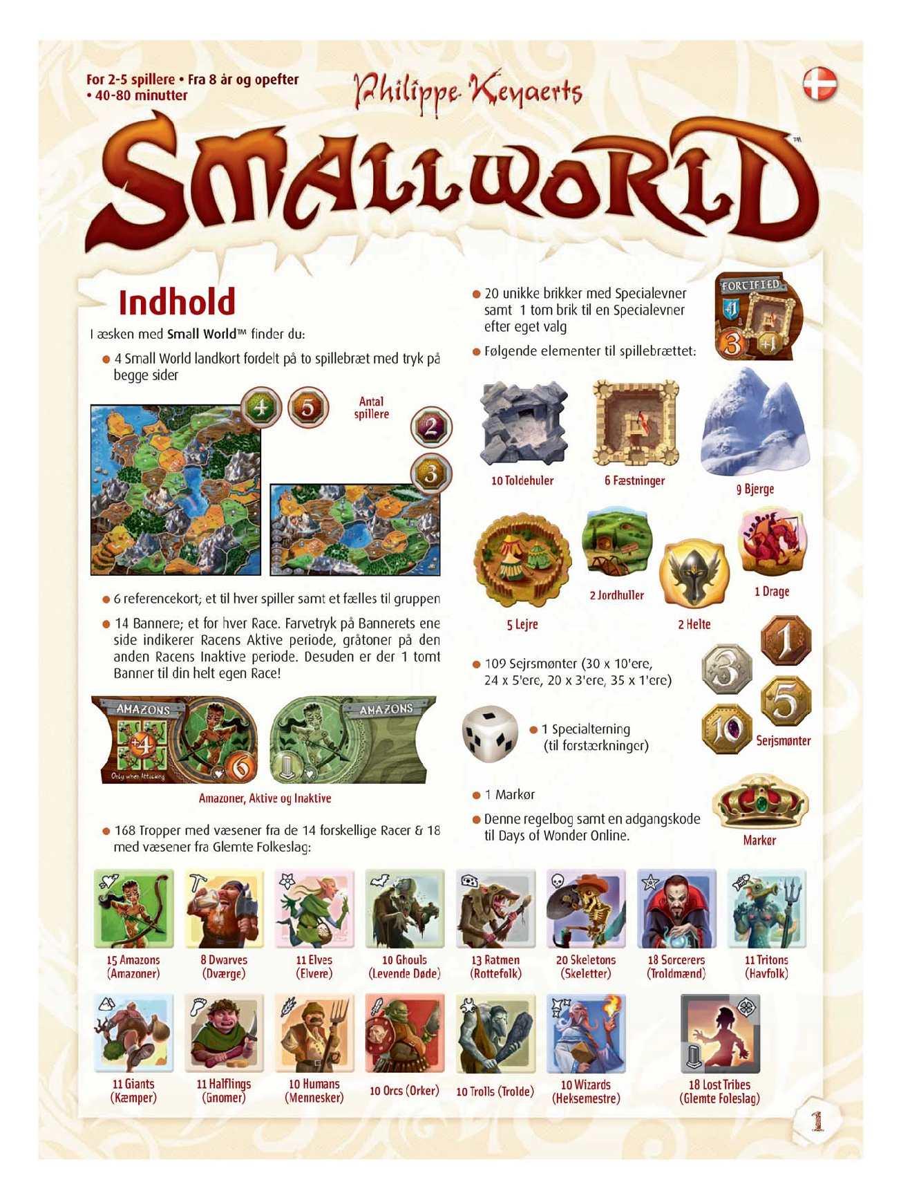 small world regler DANSK