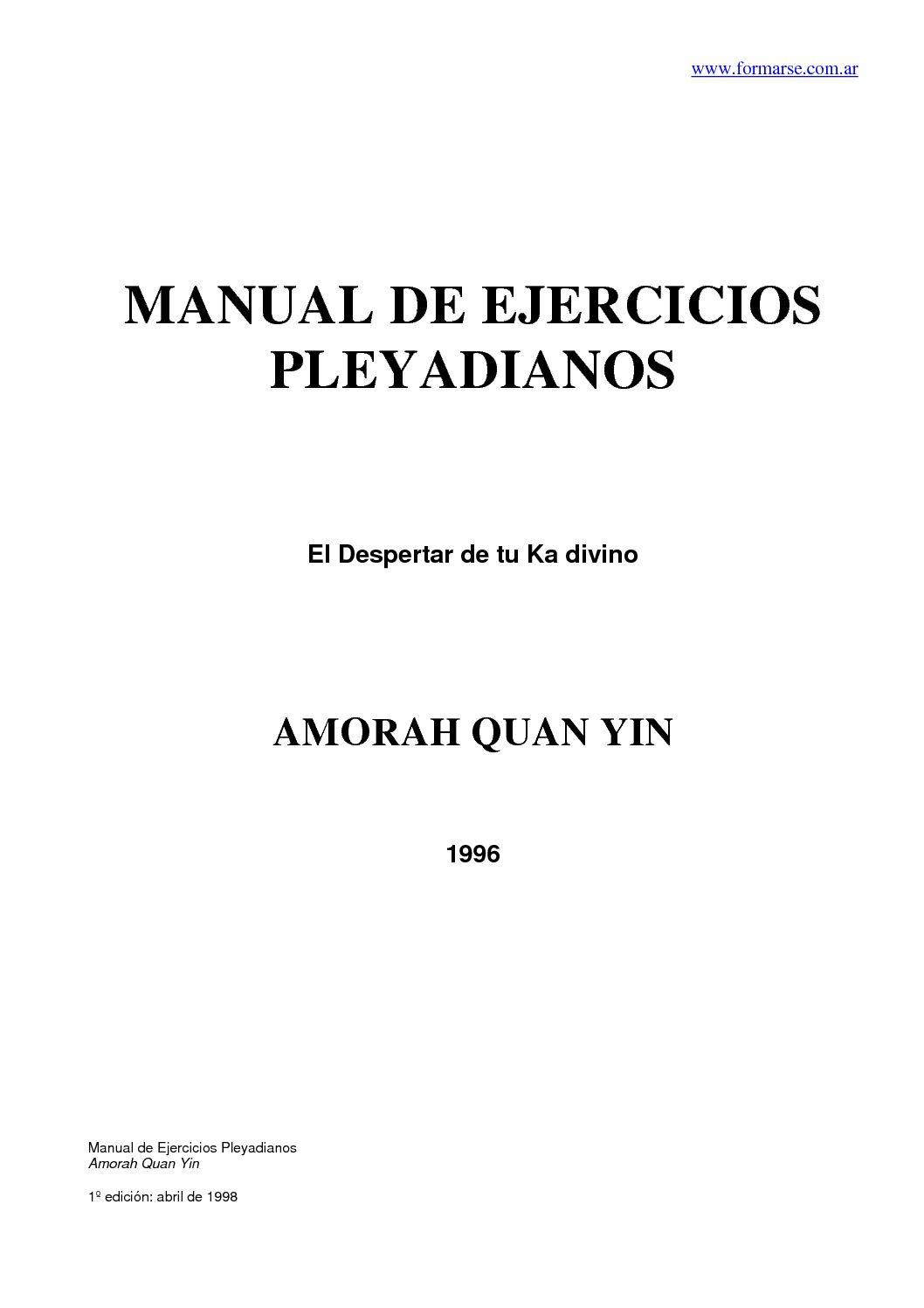 Calaméo - Manual+de+Ejercicios+Pleyadianos