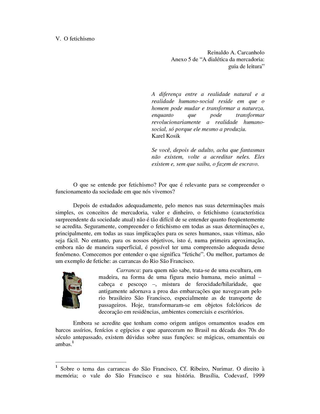 """Anexo 5 da """"Dialética da Mercadoria"""""""