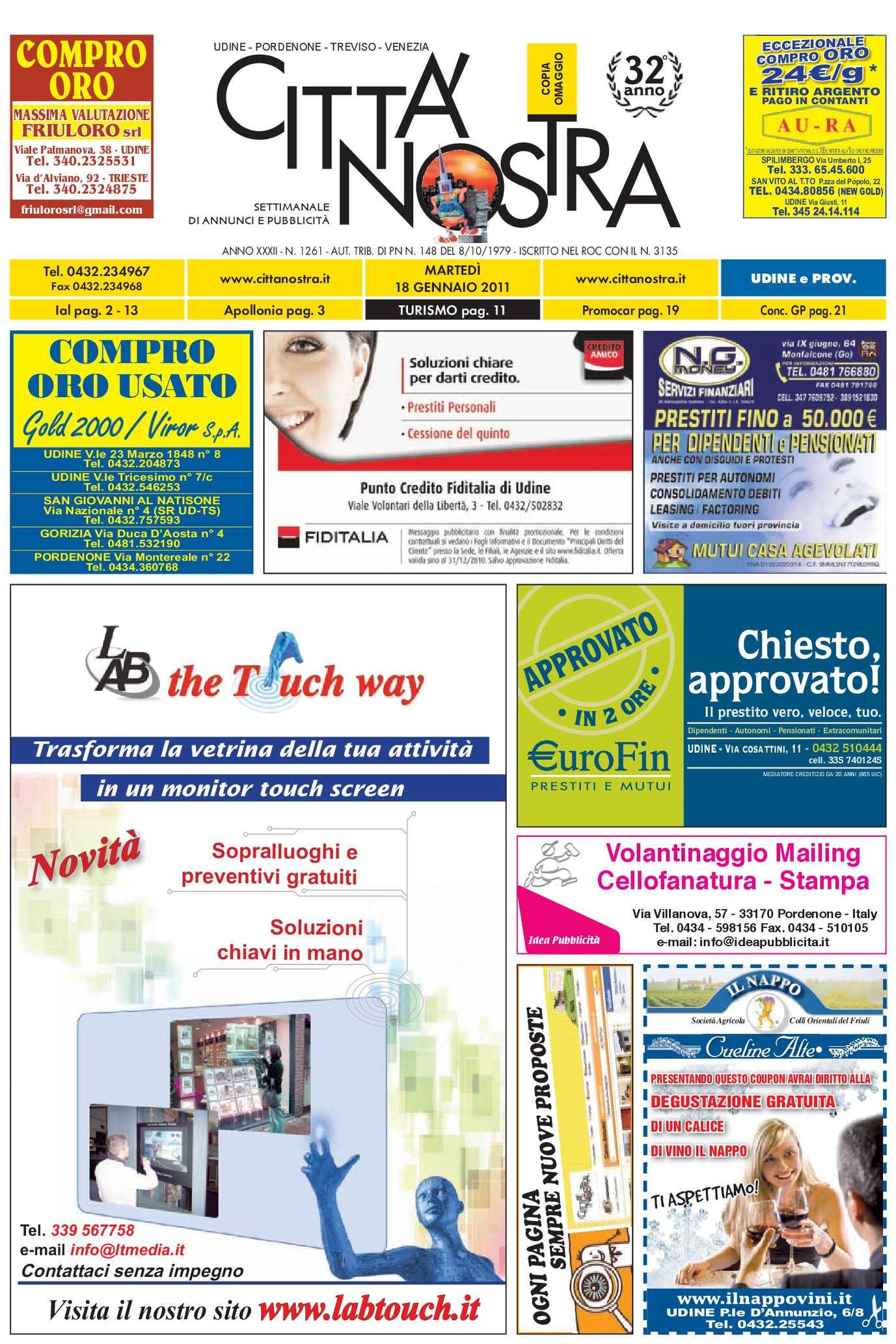 Calaméo Citt Nostra Udine Del 18 01 2011 N 1261