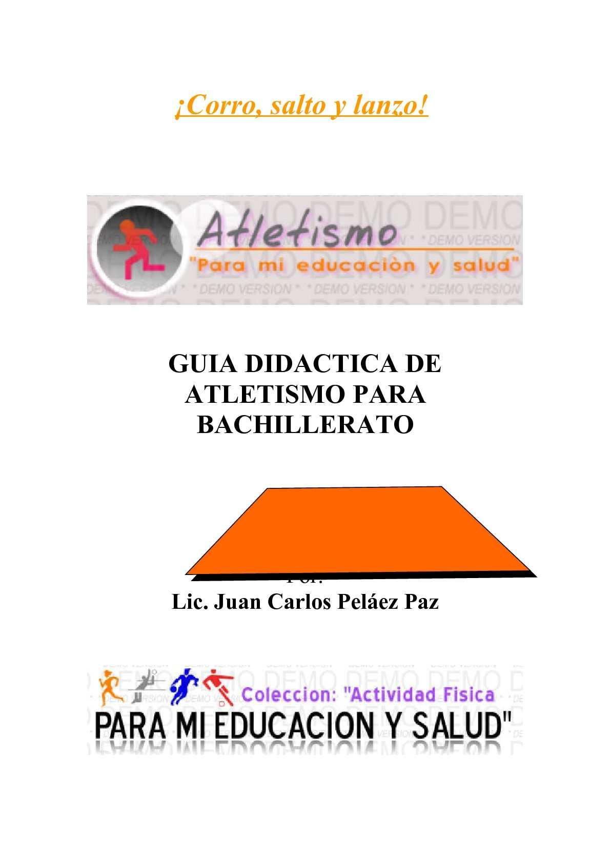 Calaméo - GUIA DIDACTICA DE ATLETISMO PARA BACHILLERATO