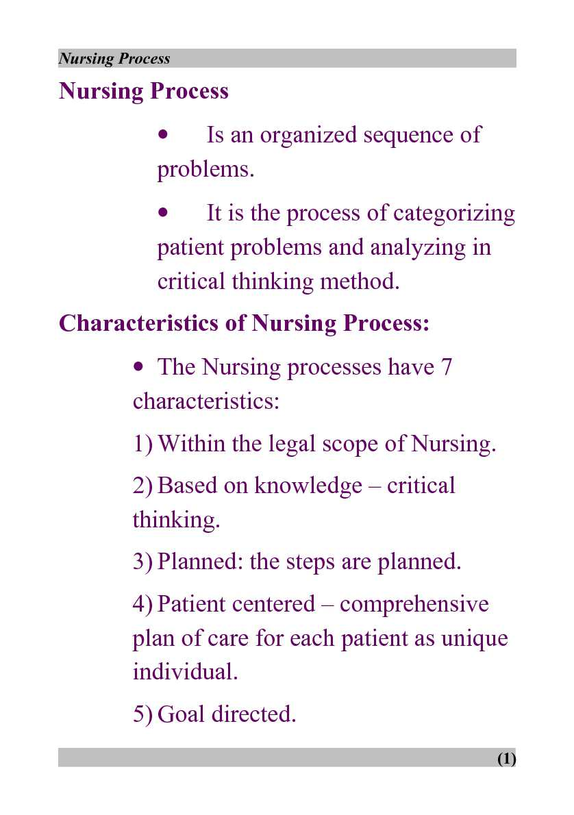 nursing process and critical thinking wilkinson Nursing process is your key to understanding and applying this fundamental decision-making process numerous application exercises help you learn the nursing process and develop the critical thinking skills necessary to put it into practice.