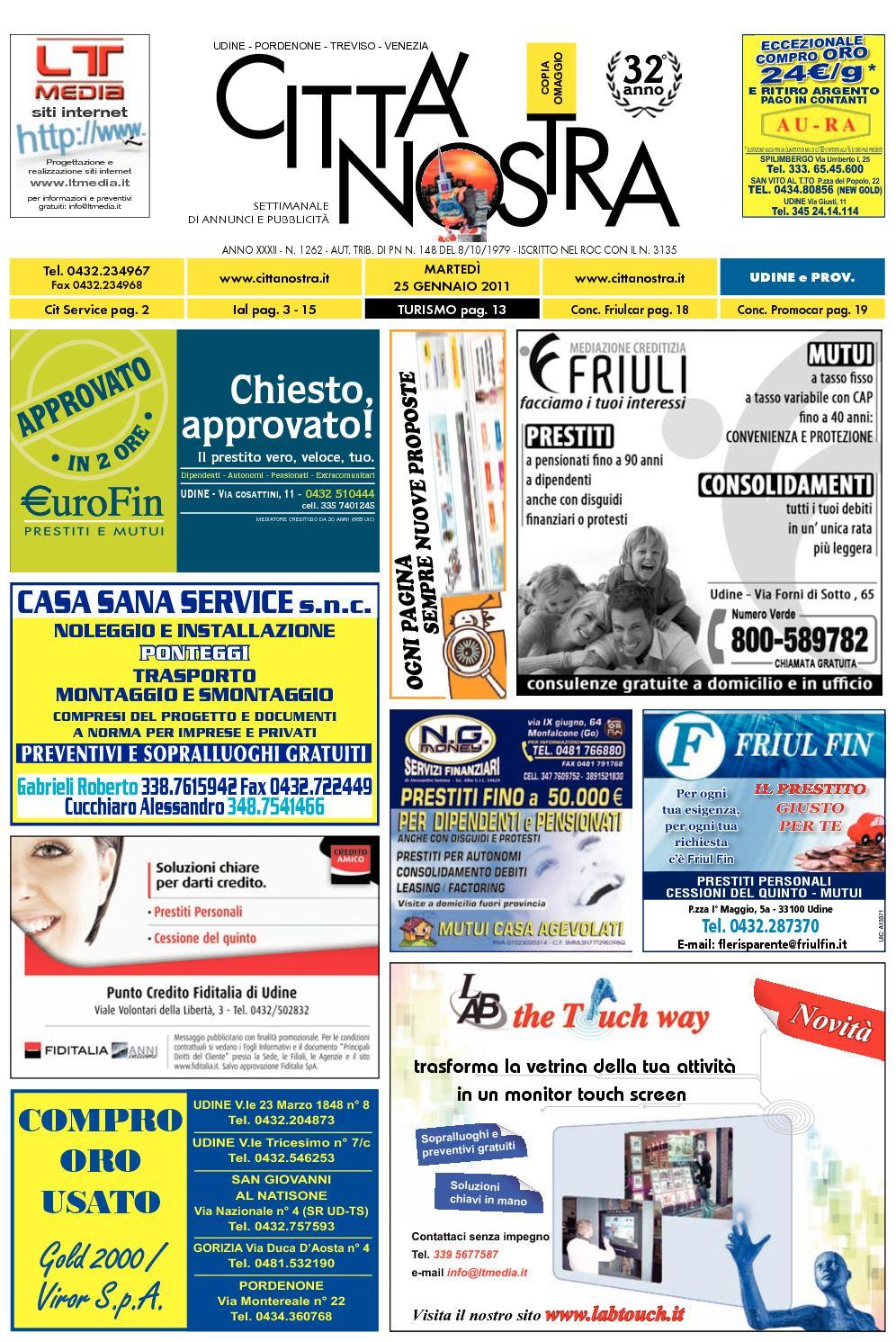 Calaméo Citt Nostra Udine Del 25 01 2011 N 1262