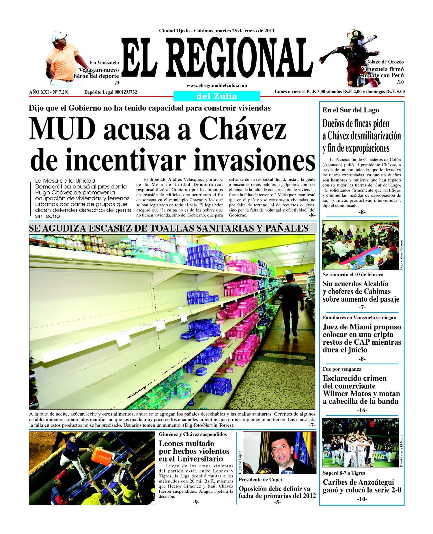 Calaméo - El Regional del Zulia   25-01-2011