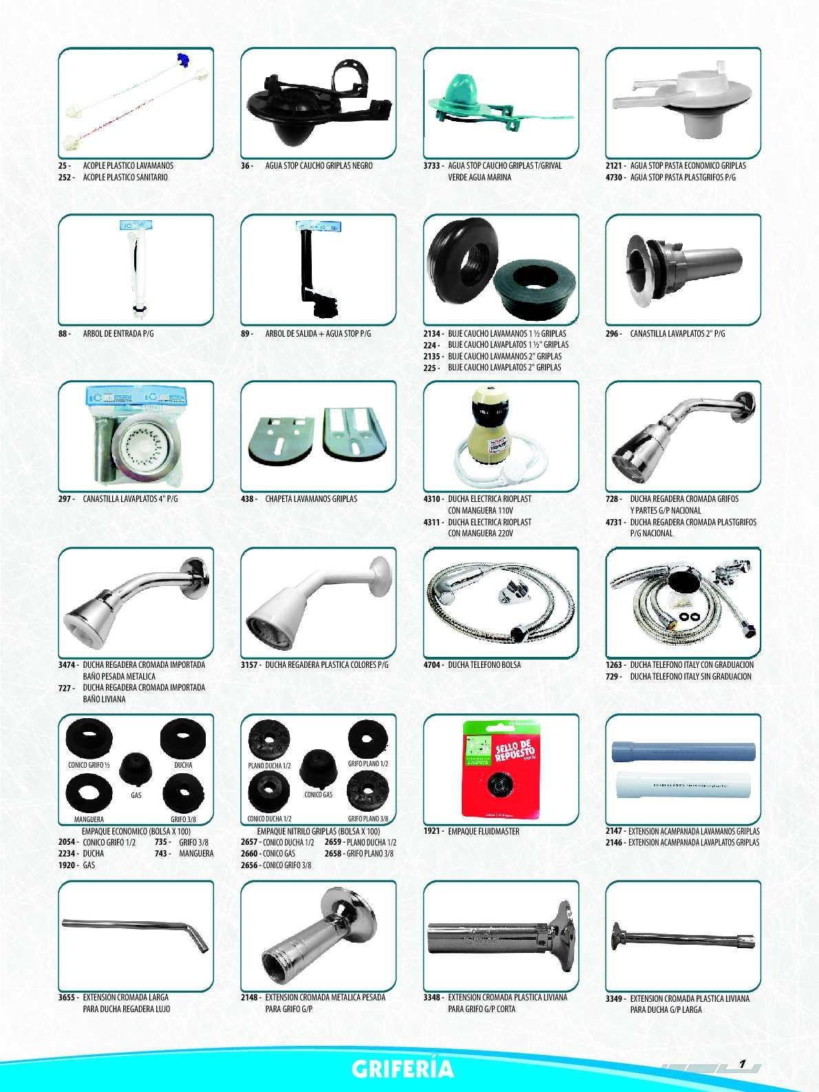 Calam o catalogo hoyos tools parte 1 for Empaque de regadera