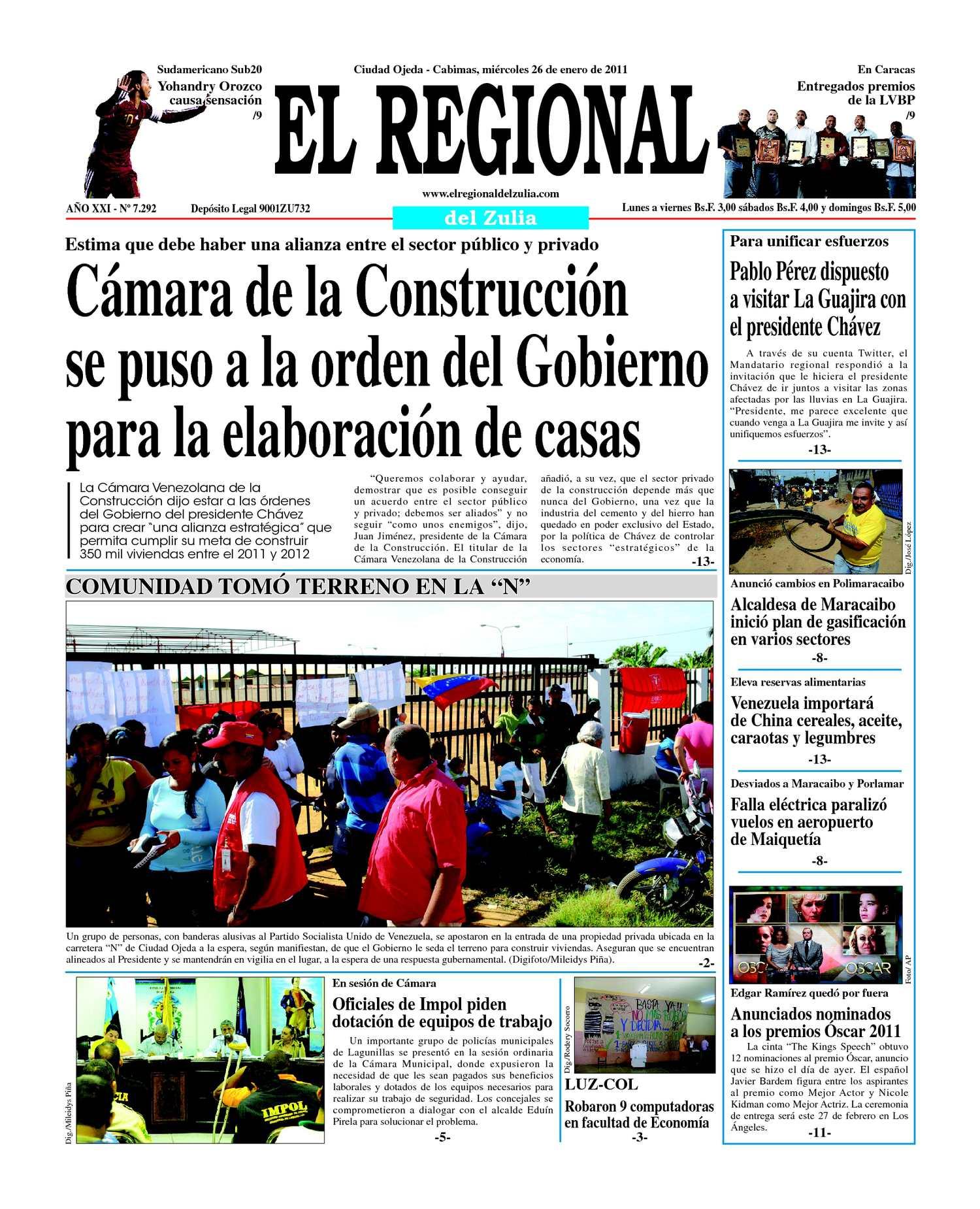 Calaméo - El Regional del Zulia | 26-01-2011