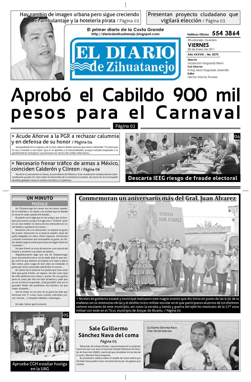 Calaméo - Edición Viernes 28 diciembre de 2010