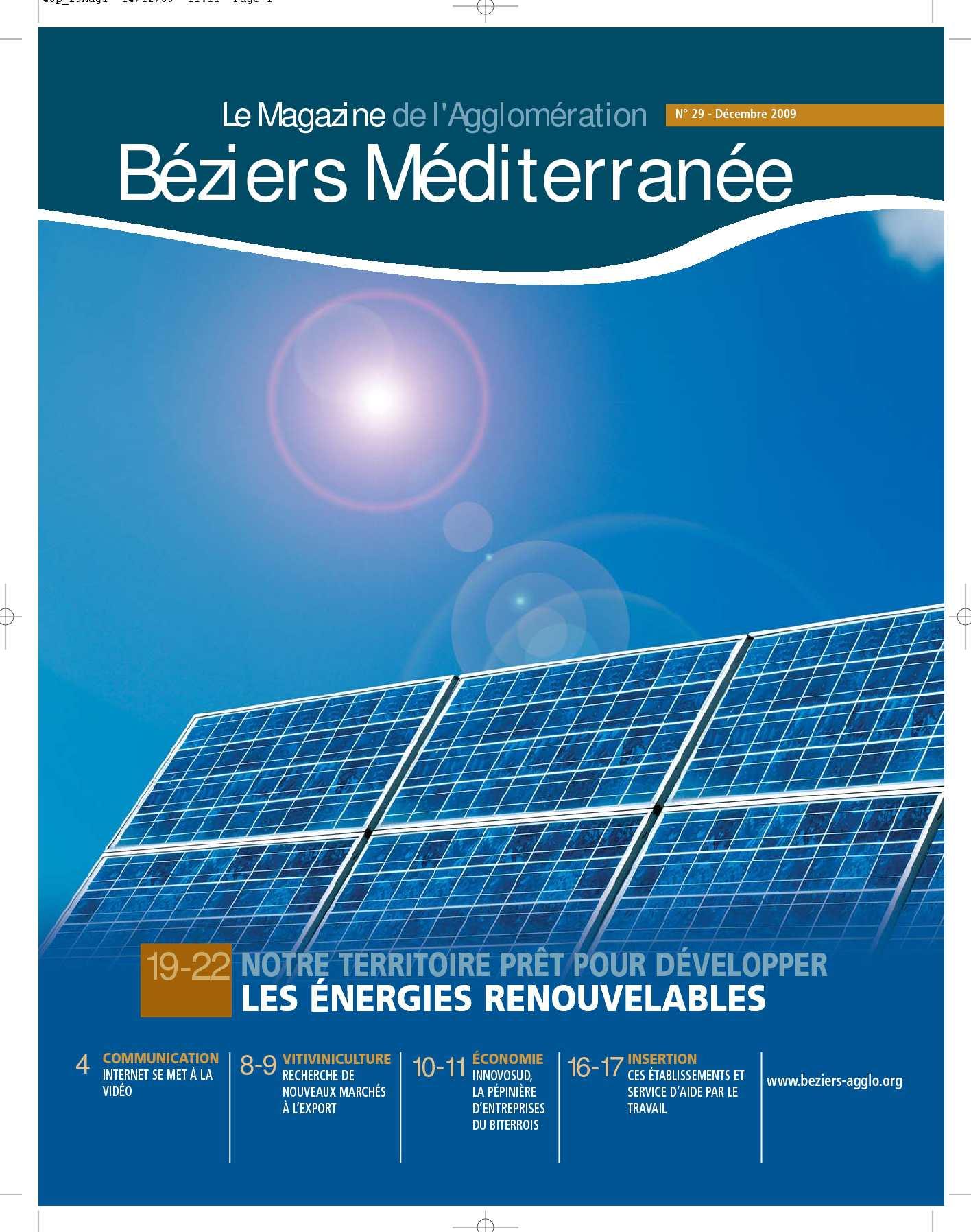 Calaméo - Magazine Béziers Méditerranée Décembre 2009 on
