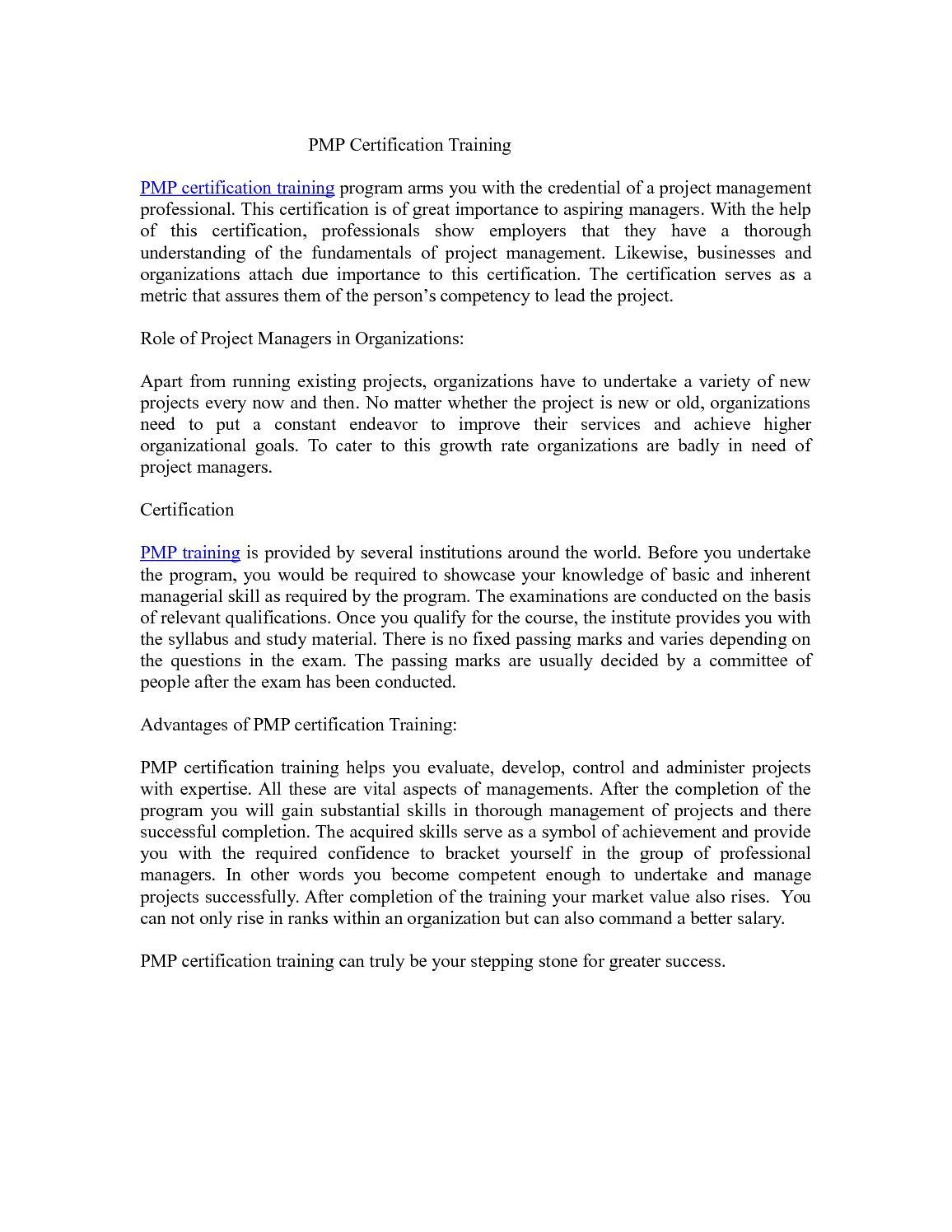 Calamo Pmp Certification Training