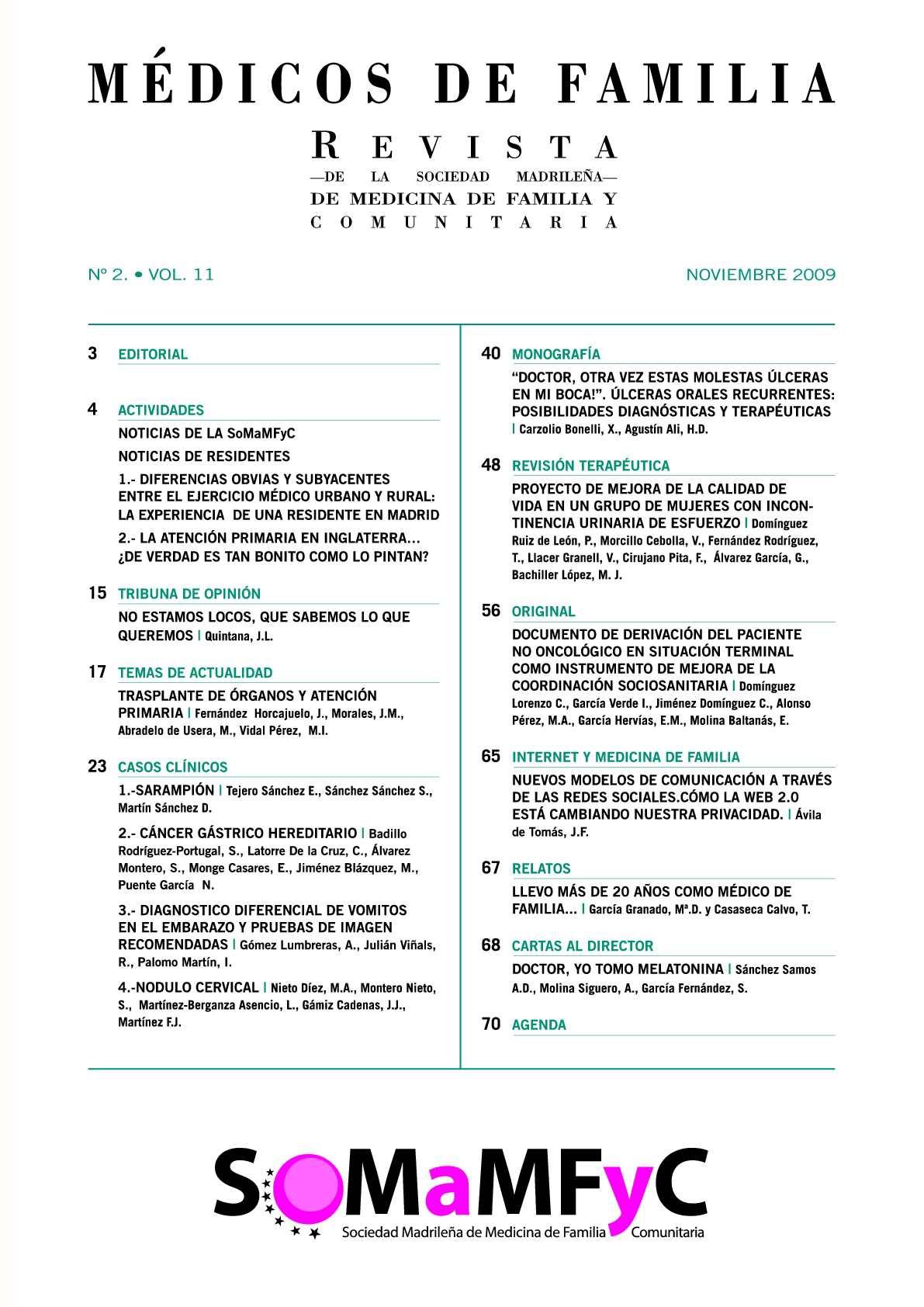 Calaméo - Vol 11 nº2 Nov 2009