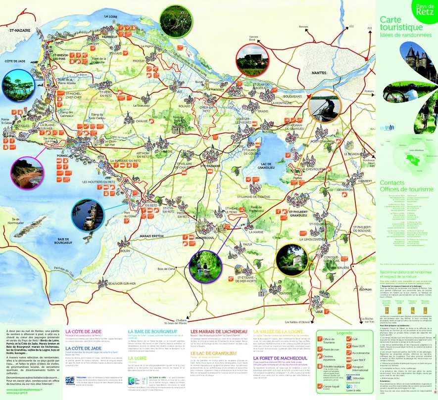 Calam o carte touristique id es de randonn es du pays de retz 2011 - Office tourisme la feclaz ...