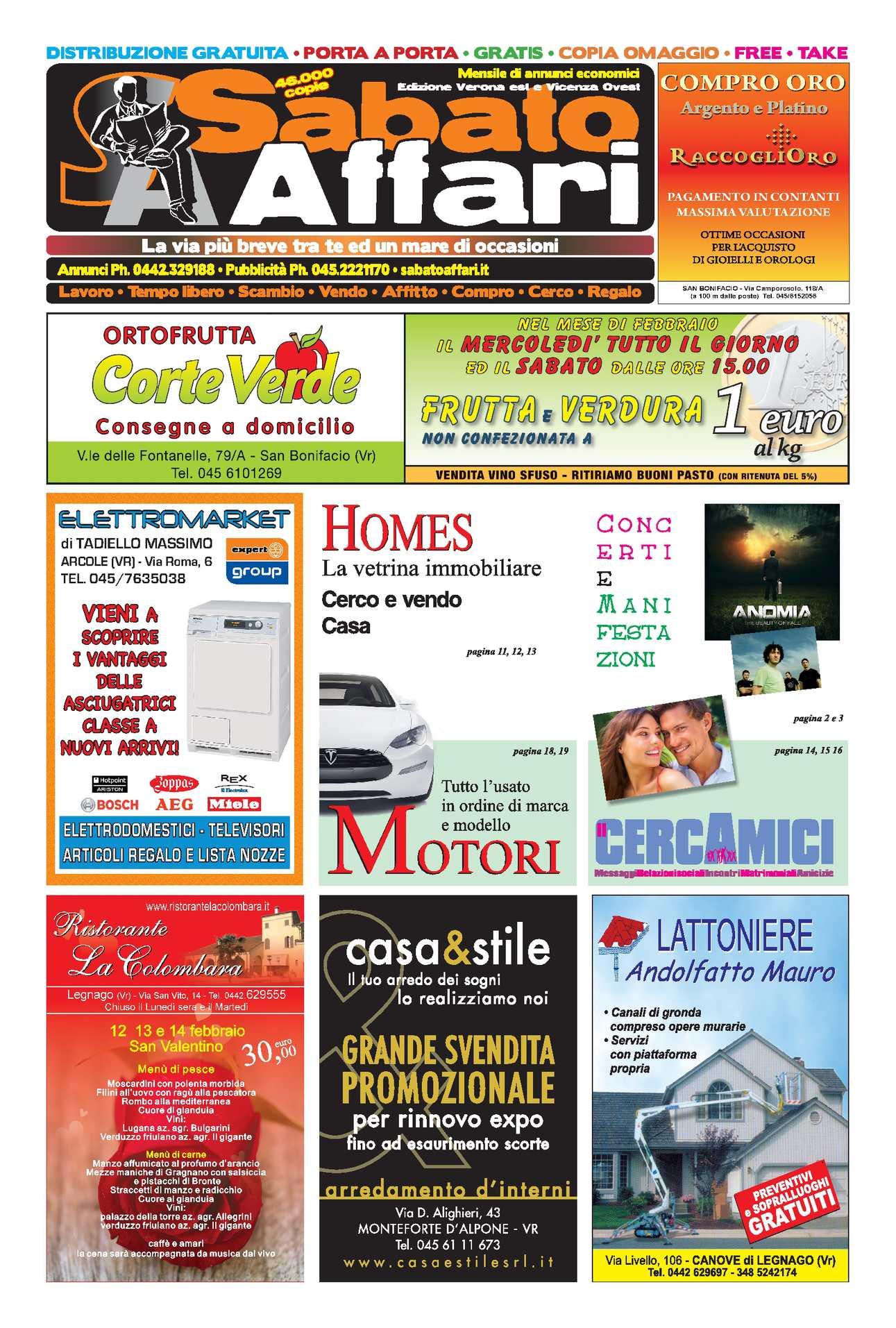Calaméo Sabato Affari Verona est e Vicenza Ovest 2 del 30 Gennaio 2011