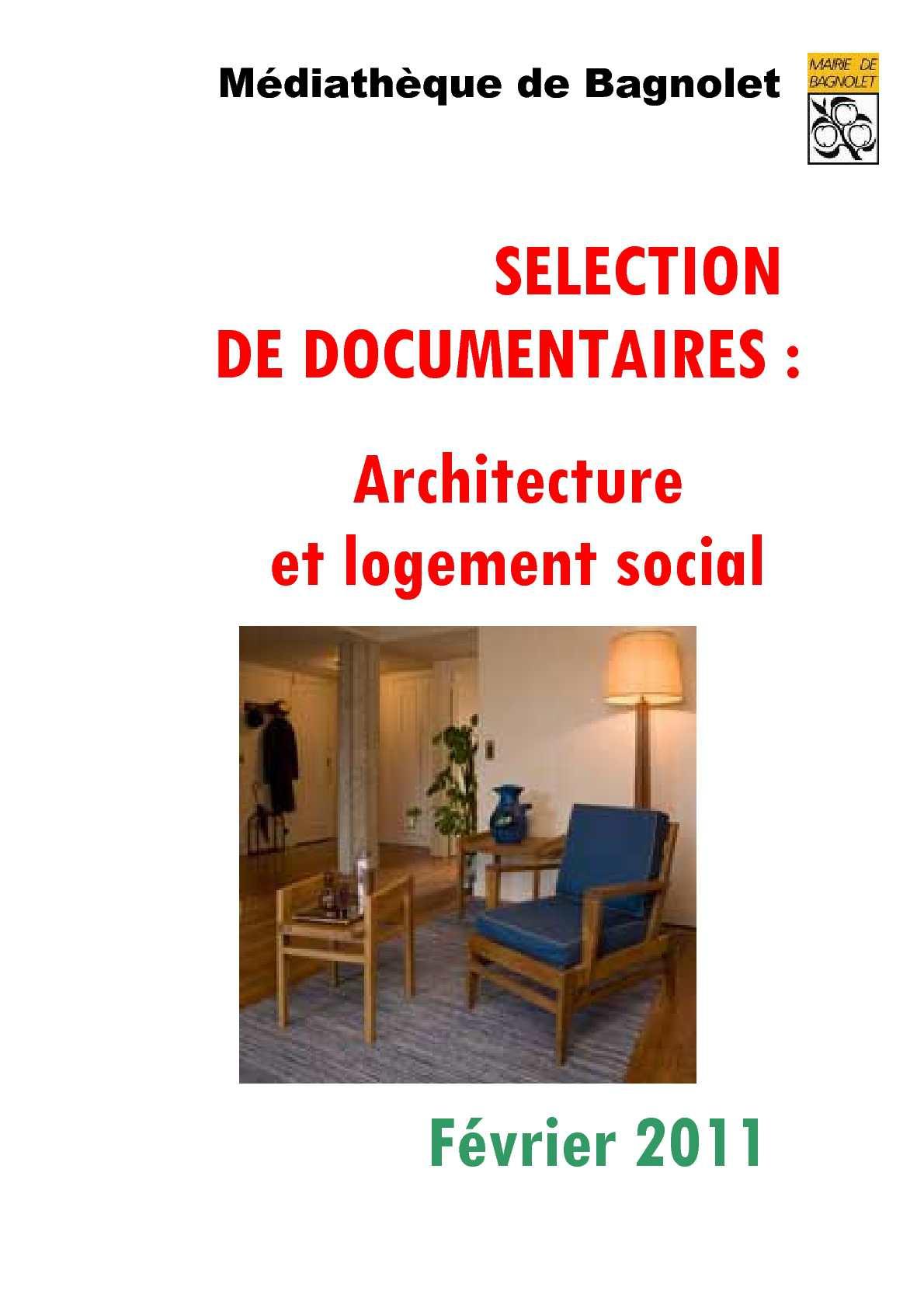 calaméo - sélection de documentaires, architecture et logement social