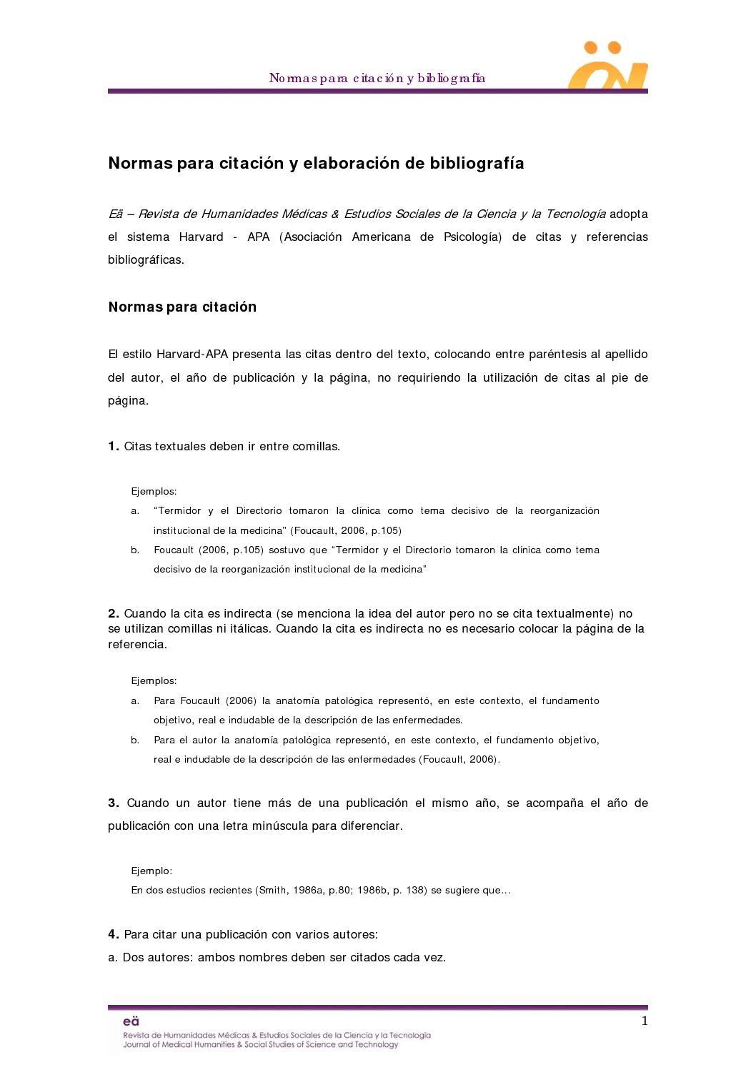 Calaméo - Normas para citación y elaboración de bibliografía
