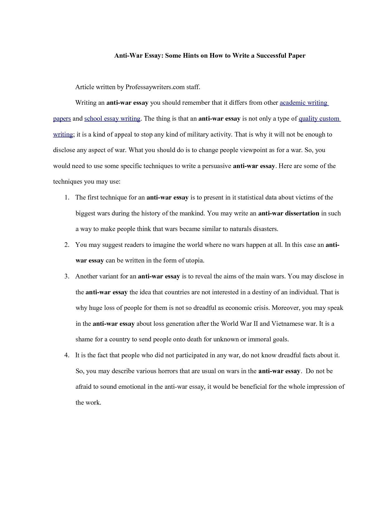 famous satirical essays sample profile essay meeting a famous  anti war essay anti war essay gxart antiwar movements and the anti war essays oglasi coeducation satirical
