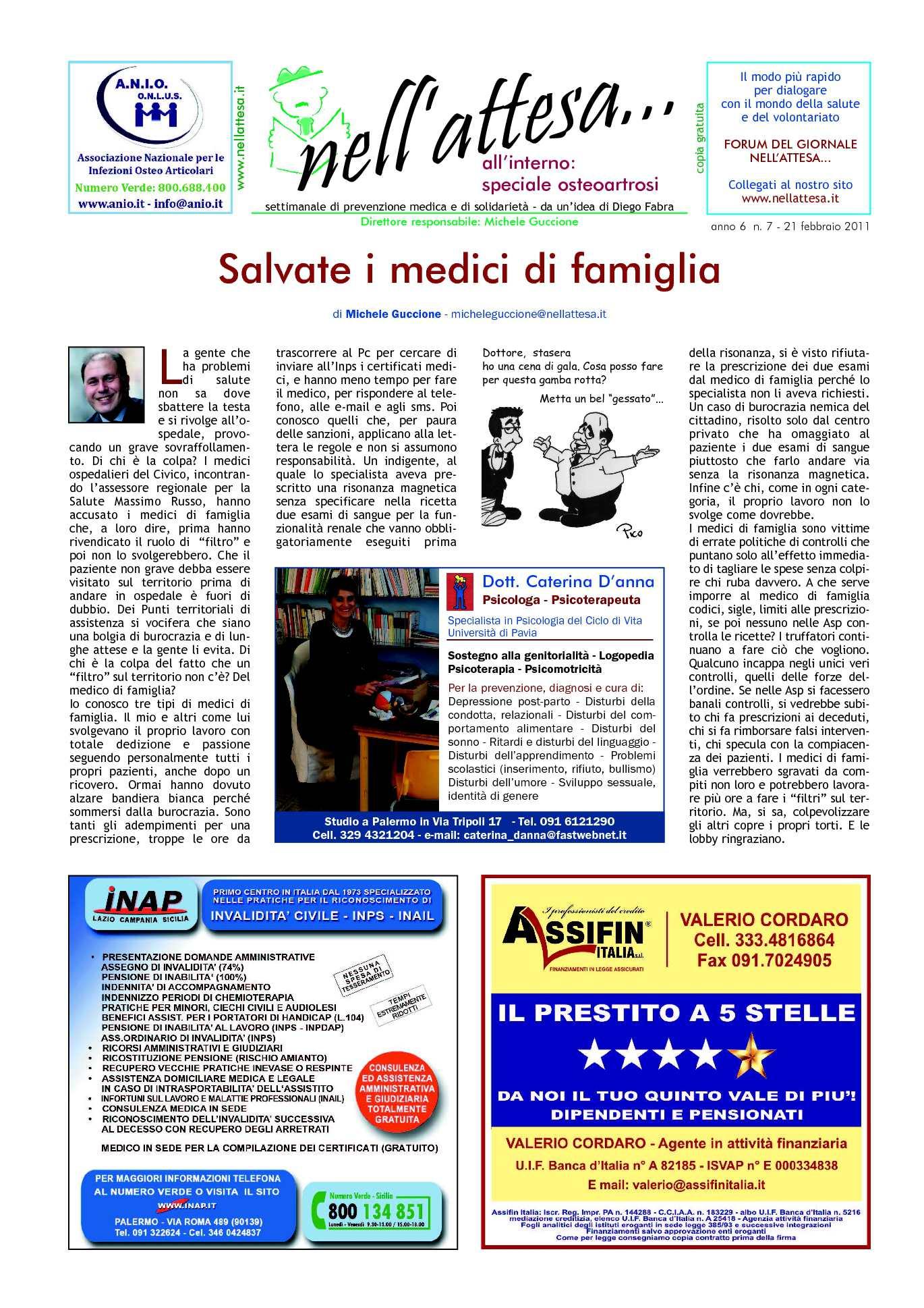 Calam o newsletter n 07 del 21 febbraio 2011 del for Gente settimanale sito