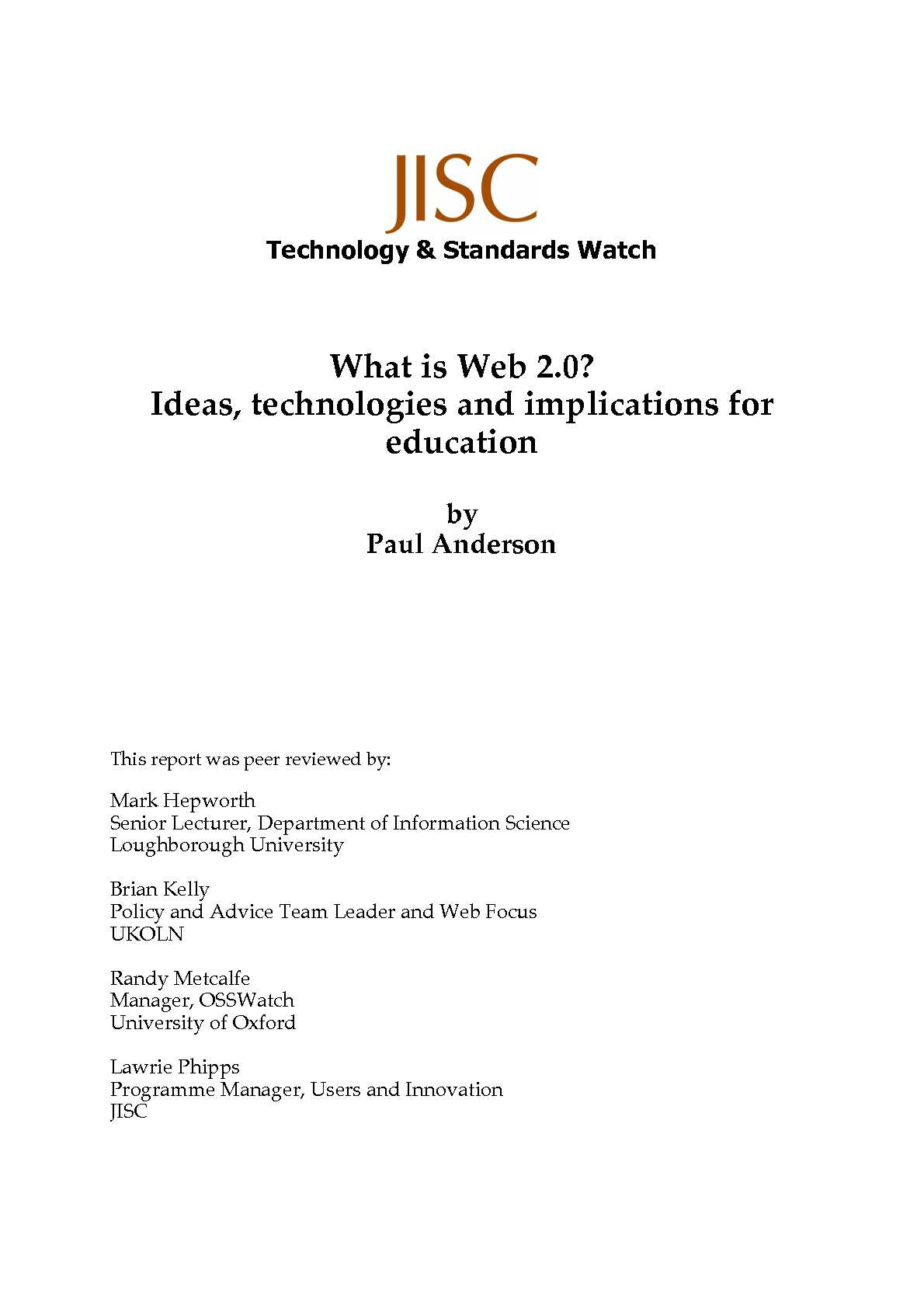 web 2 0 and the implications on Web 20, what are the implications on society in this project i will be discussing, the web , its history and growth into web 20 and how it changed the world and what impact that had on a variety of media institutions and media forms, and in particular the implications on society.