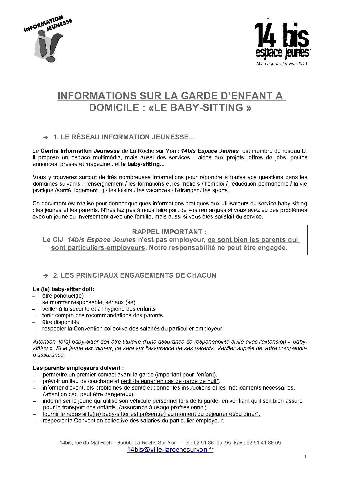 Top Calaméo - Document d'informations sur le baby-sitting TJ19