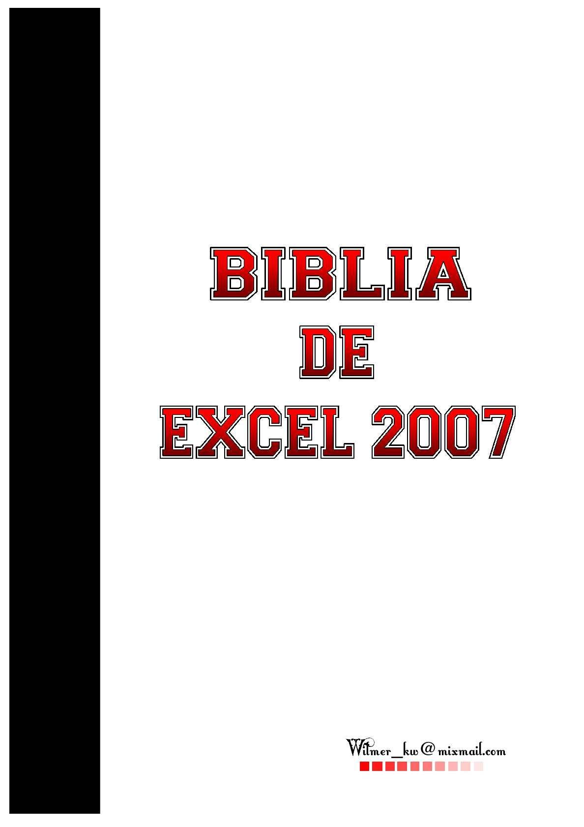 La Biblia de Excel 2007
