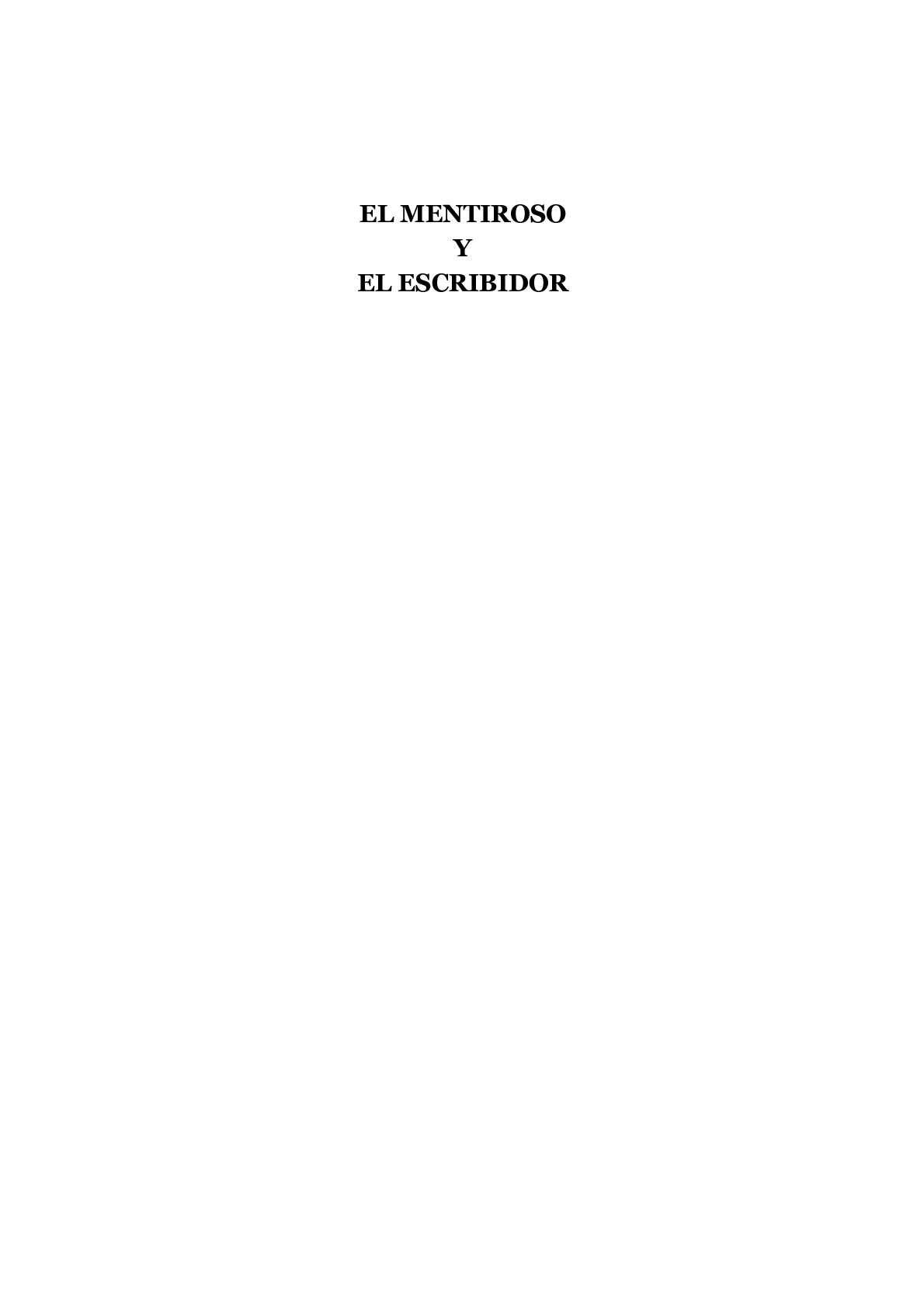 Calaméo - El mentiroso y el escribidor: teoría y práctica literarias ...