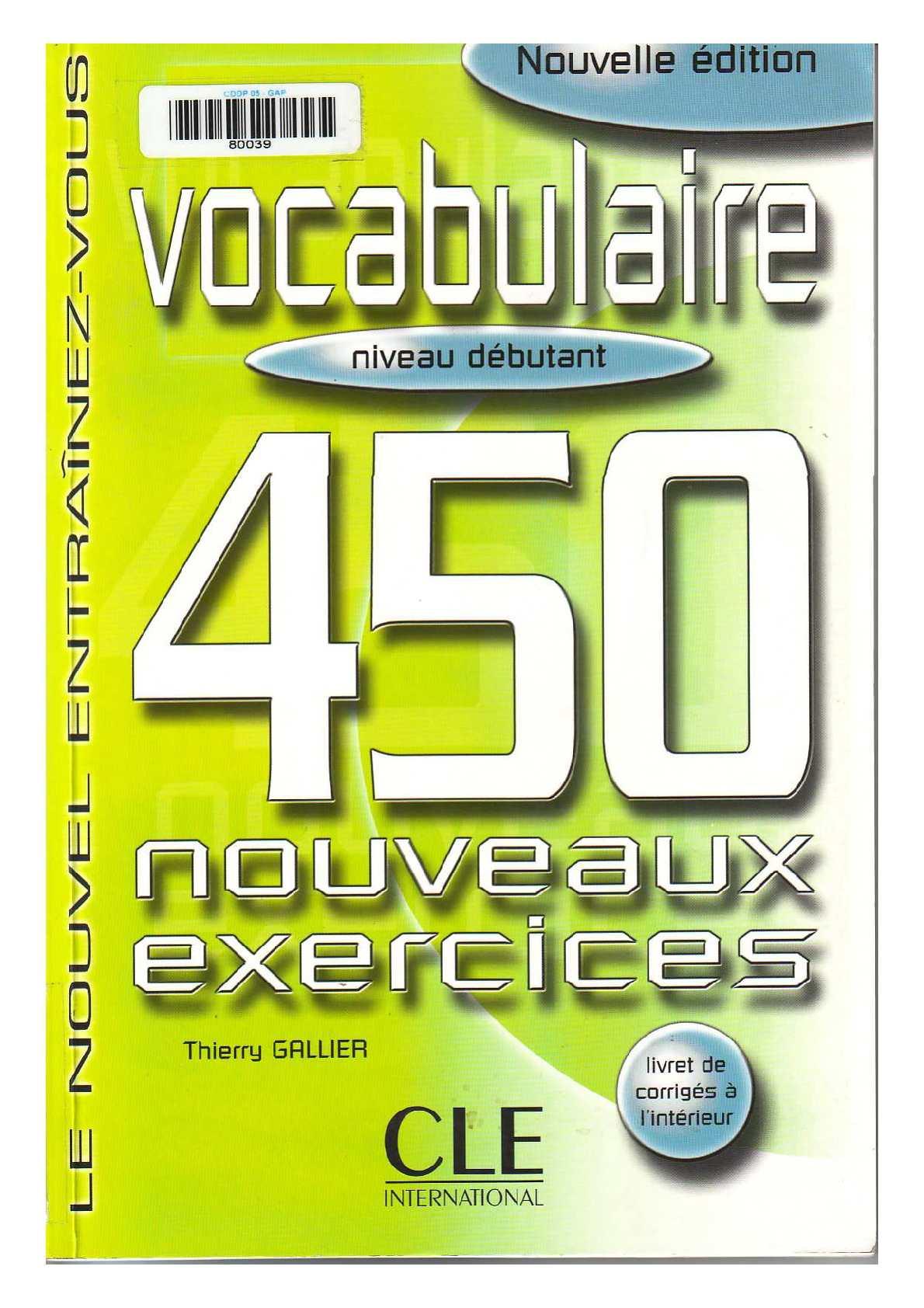 Vocabulaire: 450 exercices (niveau débutant)