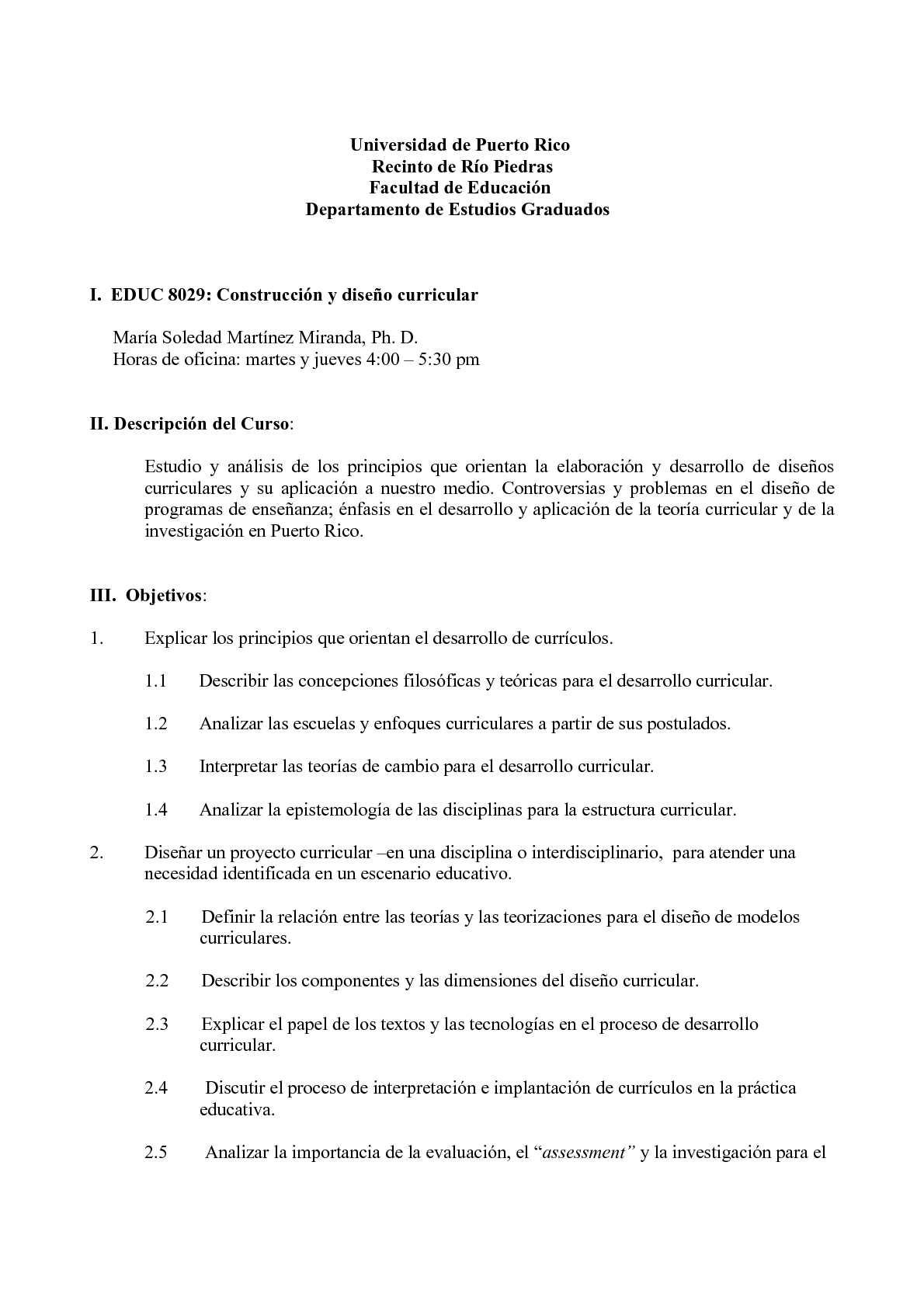 Calaméo - Prontuario EDUC 8029: Diseño de Currículo