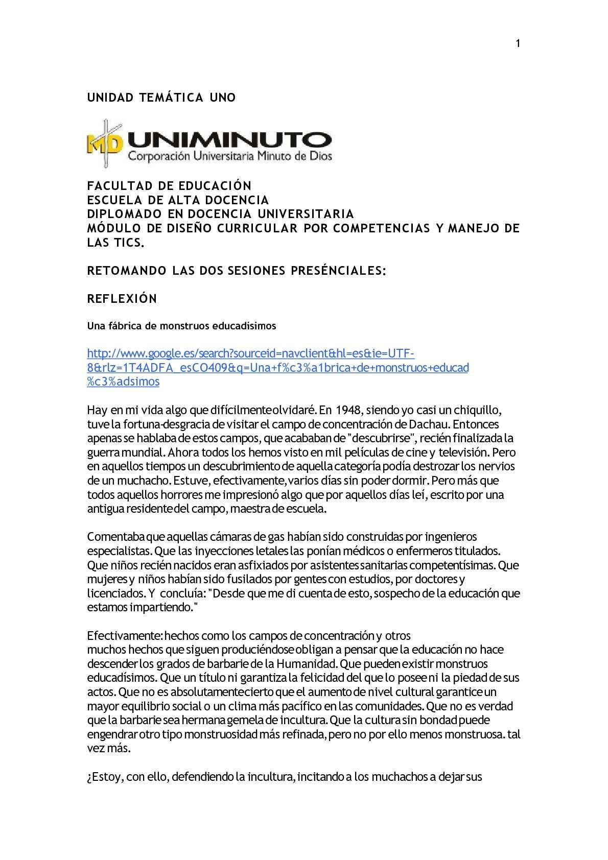 Calaméo - UNIDAD TEMÀTICA UNO DOCENTES