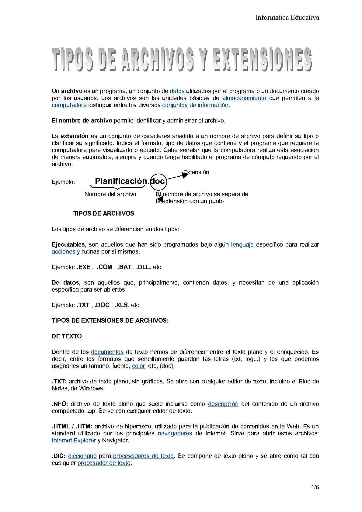 Calaméo - Tipos de archivo y extensiones