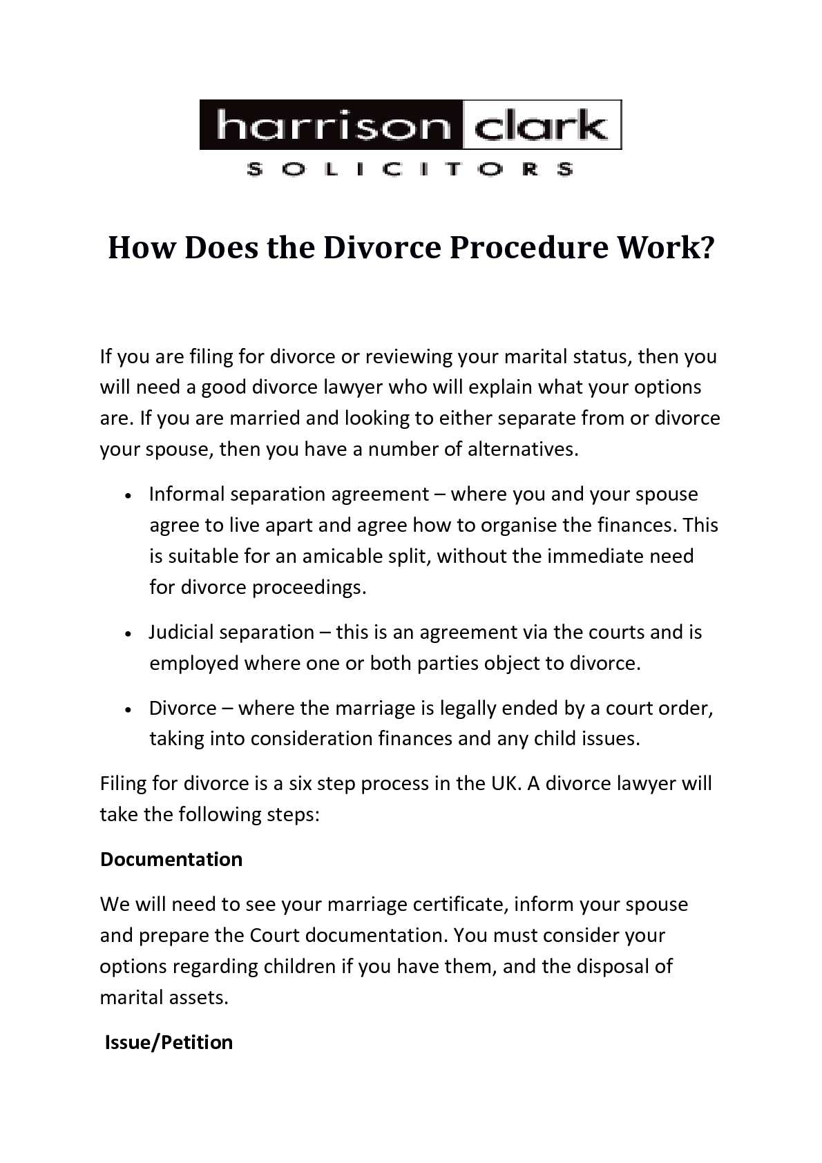 Calamo How Does The Divorce Procedure Work