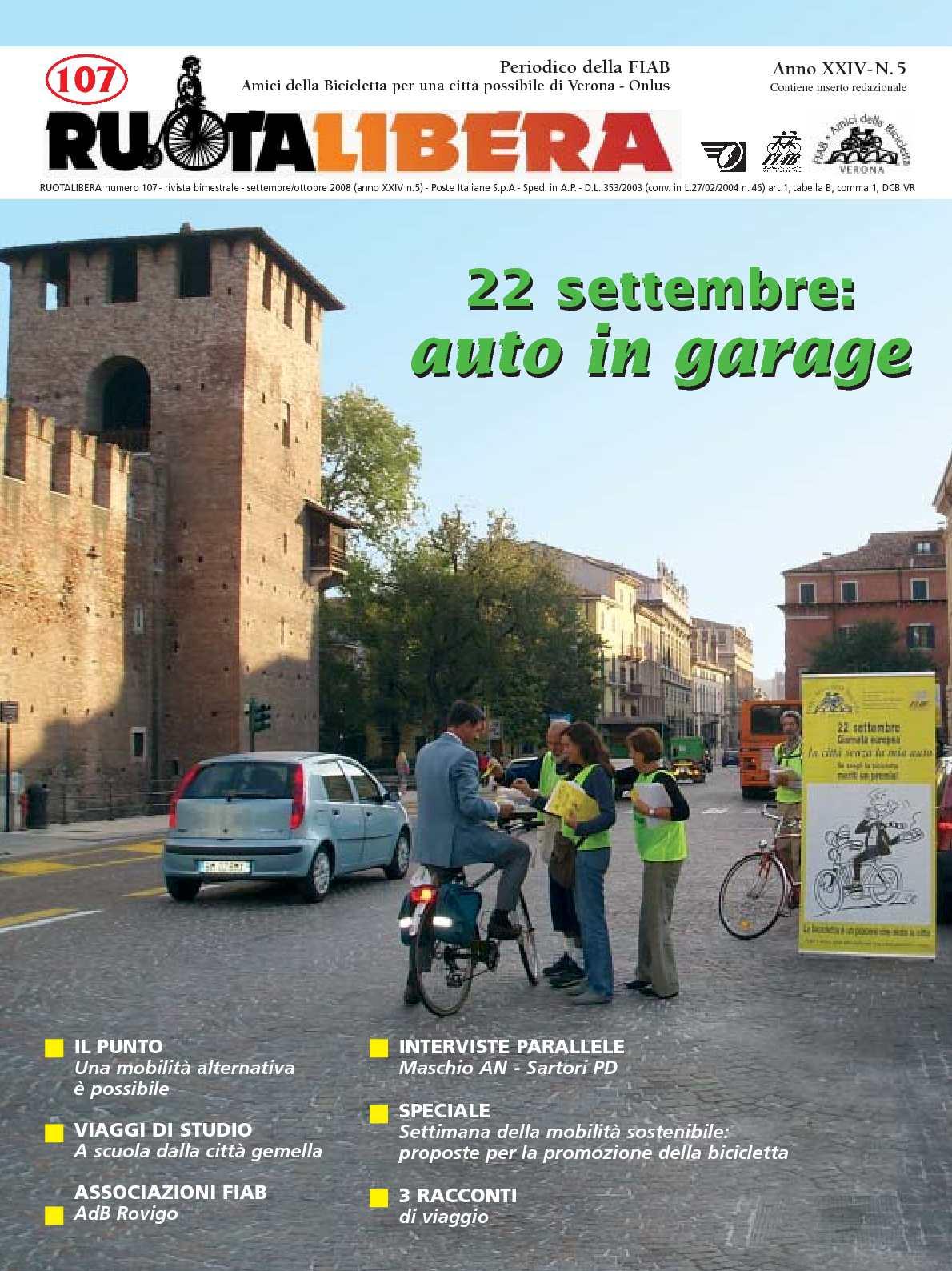 Ruotalibera 107 (settembre/ottobre 2008) - FIAB AdB Verona